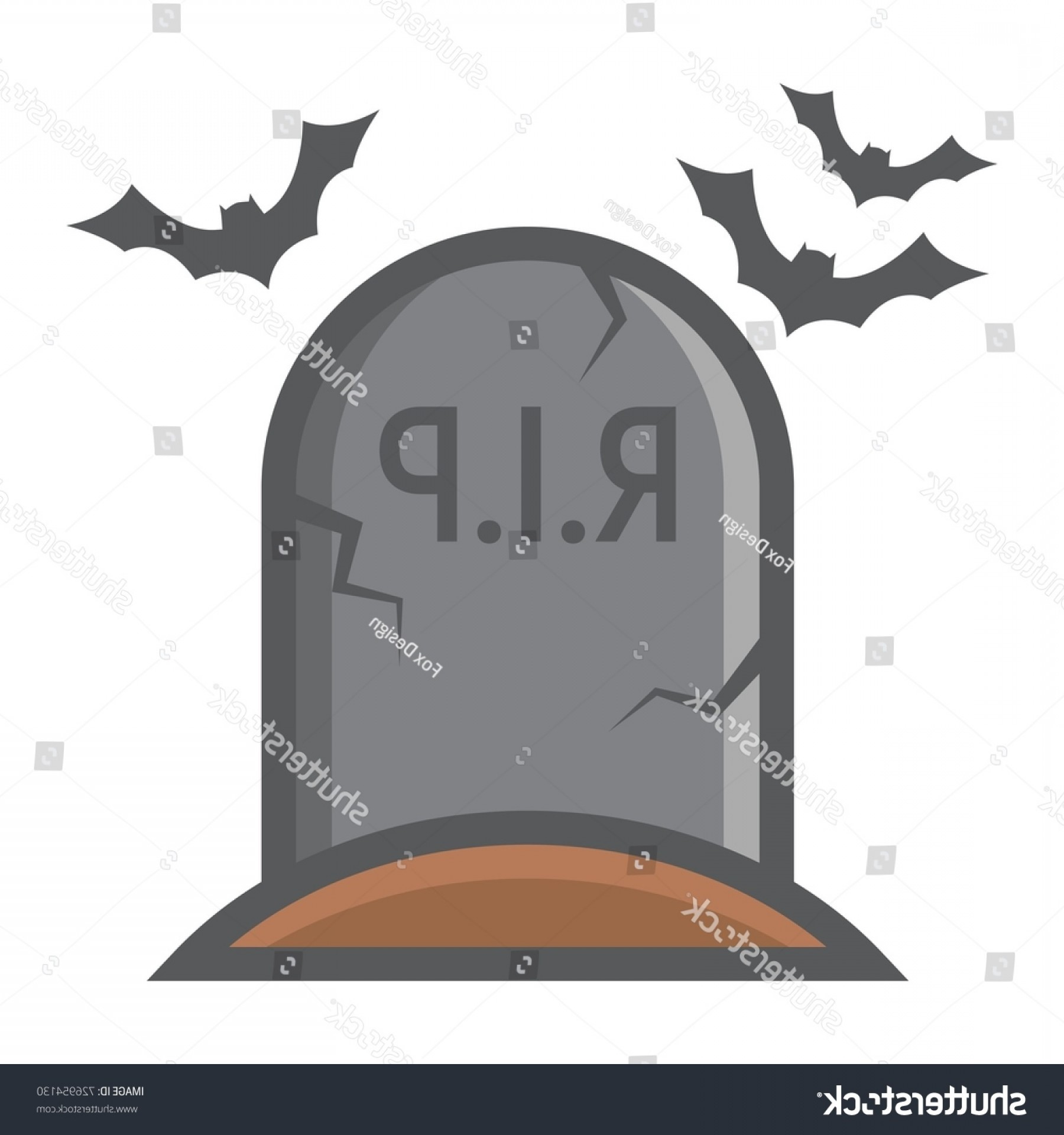 Gravestone Outline Vector: Tombstone Filled Outline Icon Halloween Scary