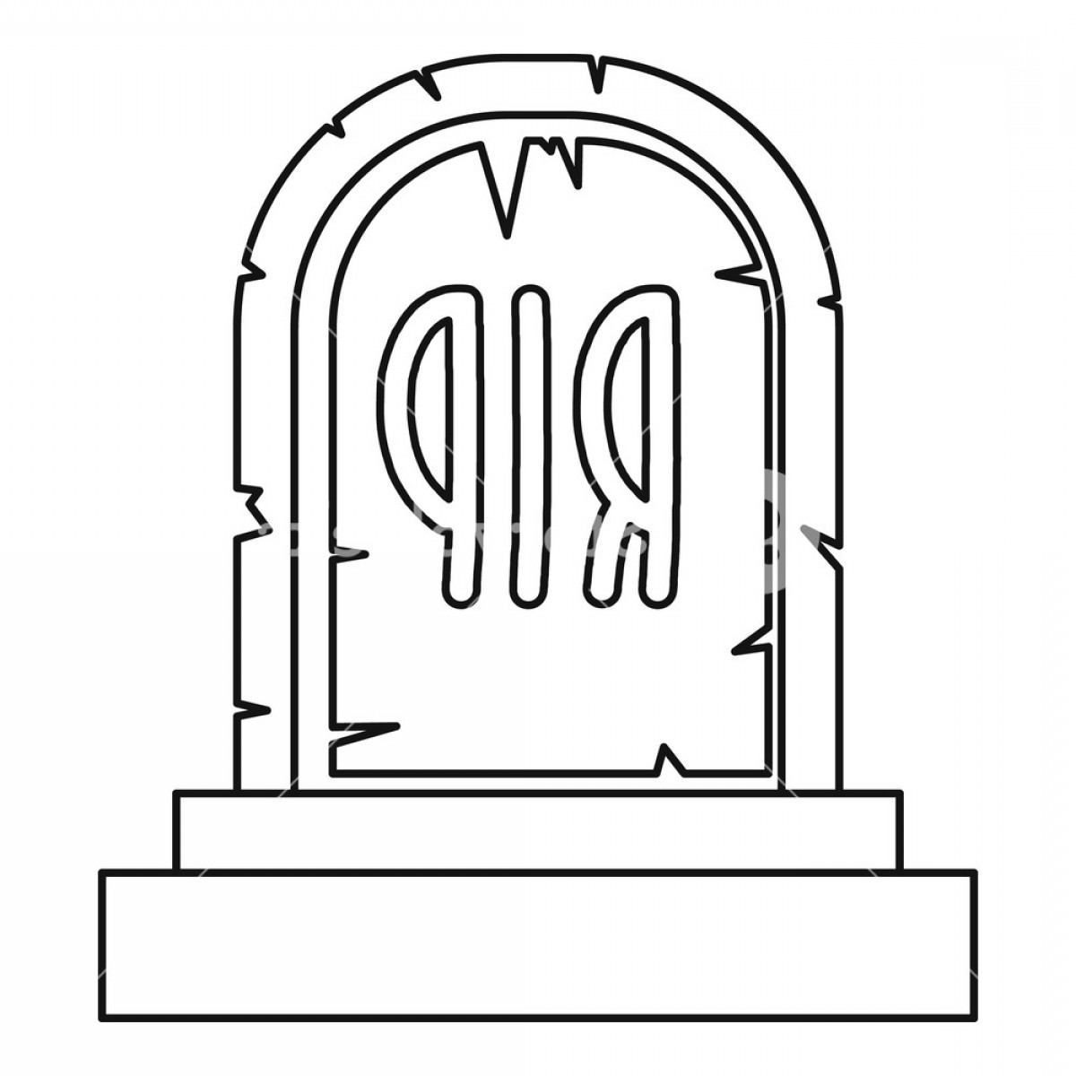 Gravestone Outline Vector: Tombstone Icon Outline Illustration Of Tombstone Vector Icon For Web Hxwzioxxqjixtyd