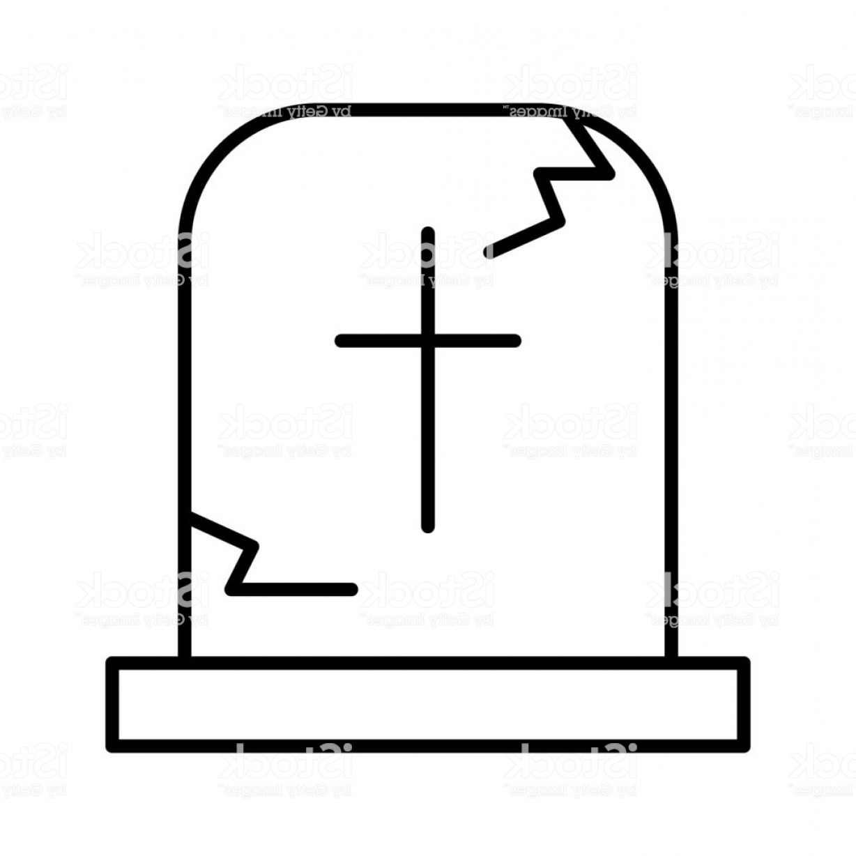 Gravestone Outline Vector: Tombstone Thin Line Icon Grave Web Vector Illustration Isolated On White Gravestone Gm