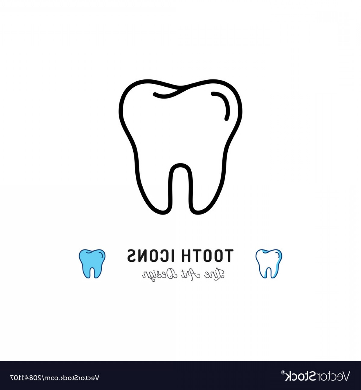 Tooth Vector Logo: Tooth Icon Teeth Sign Dental Care Logo Dental Vector