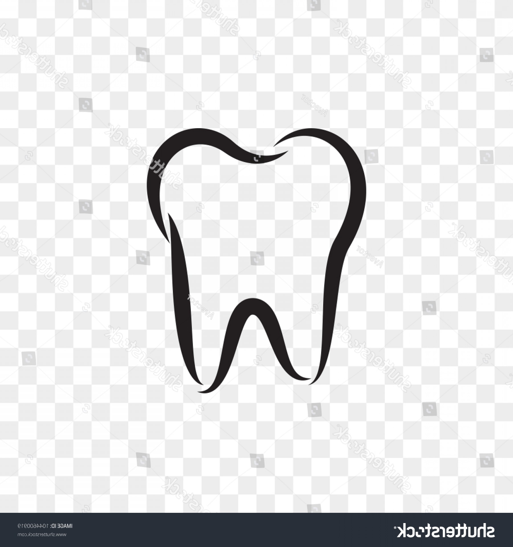 Tooth Outline Vector: Tooth Logo Icon Dentist Stomatology Dental