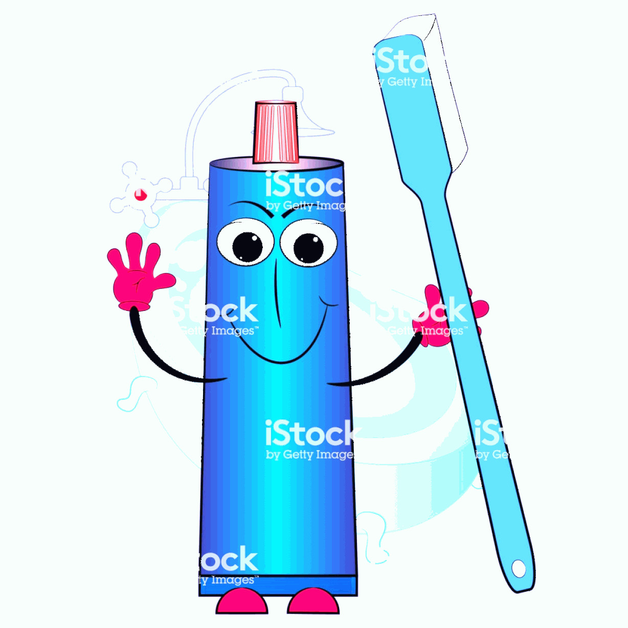 Toothpaste Cartoon Vector: Toothpaste And Toothbrush Cartoon Vector Illustration Gm