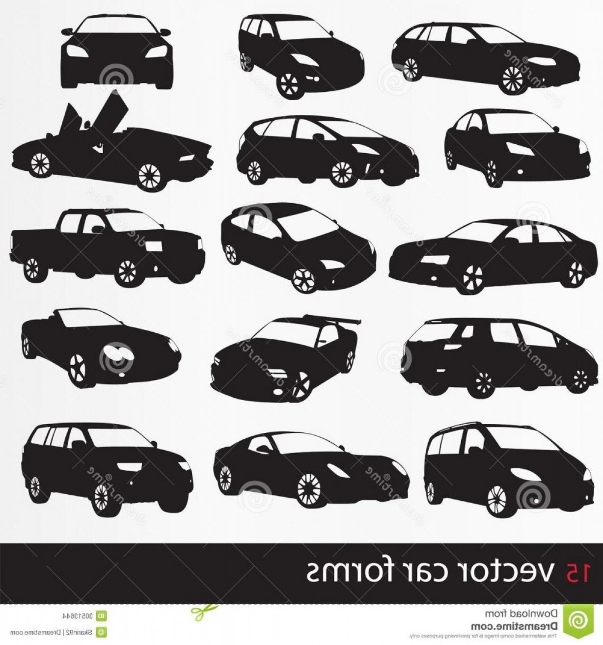 Car Silhouette Vector Free: Top Cars Silhouette Vector Illustration Black Images Drawing