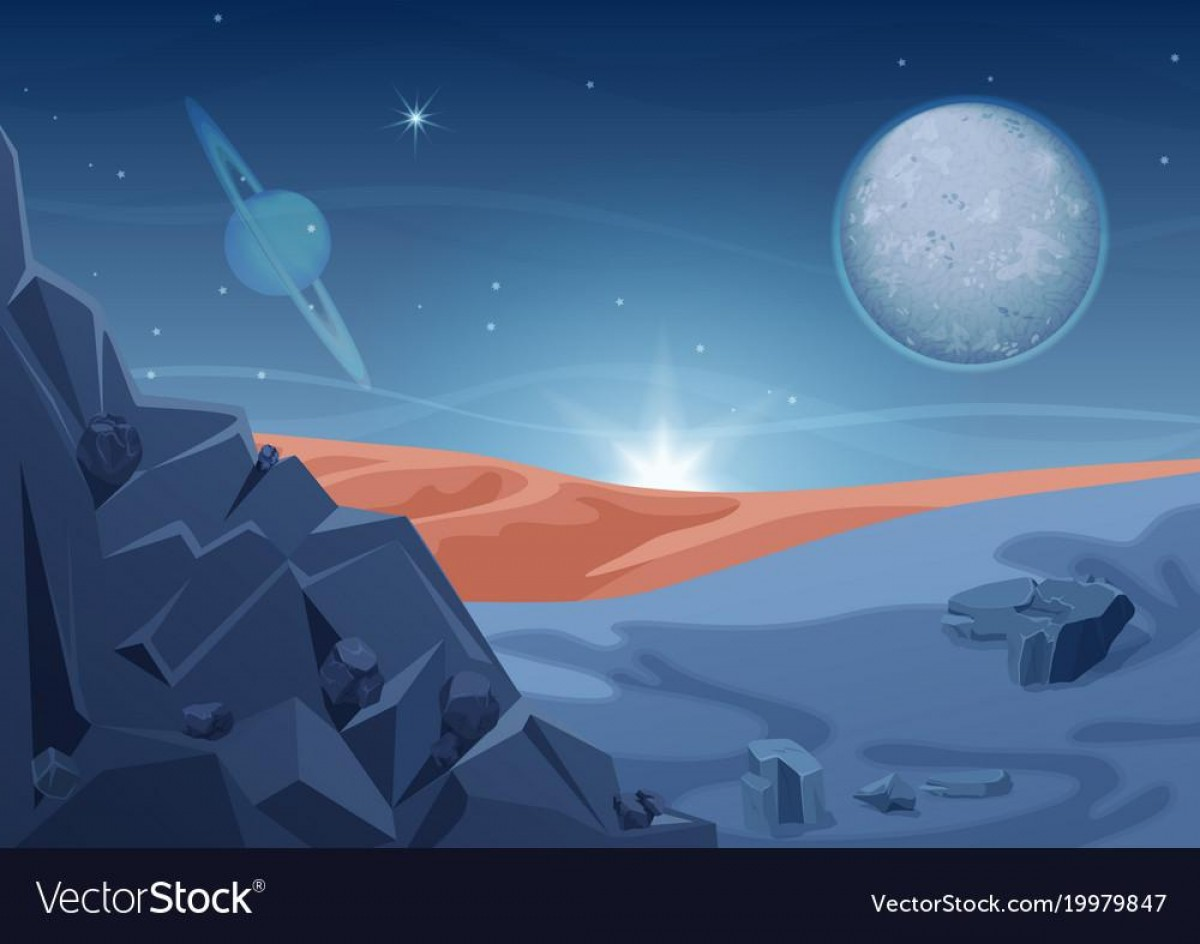 Planets Vector Graphics: Top Fantasy Mystery Alien Landscape Another Planet Vector Drawing