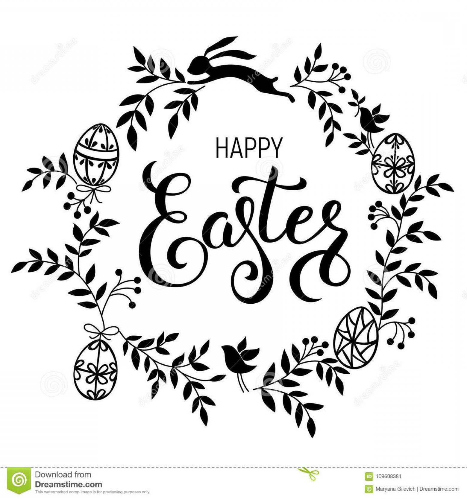 Religious Easter Vector Files: Top Happy Easter Clip Art Black And White File Free