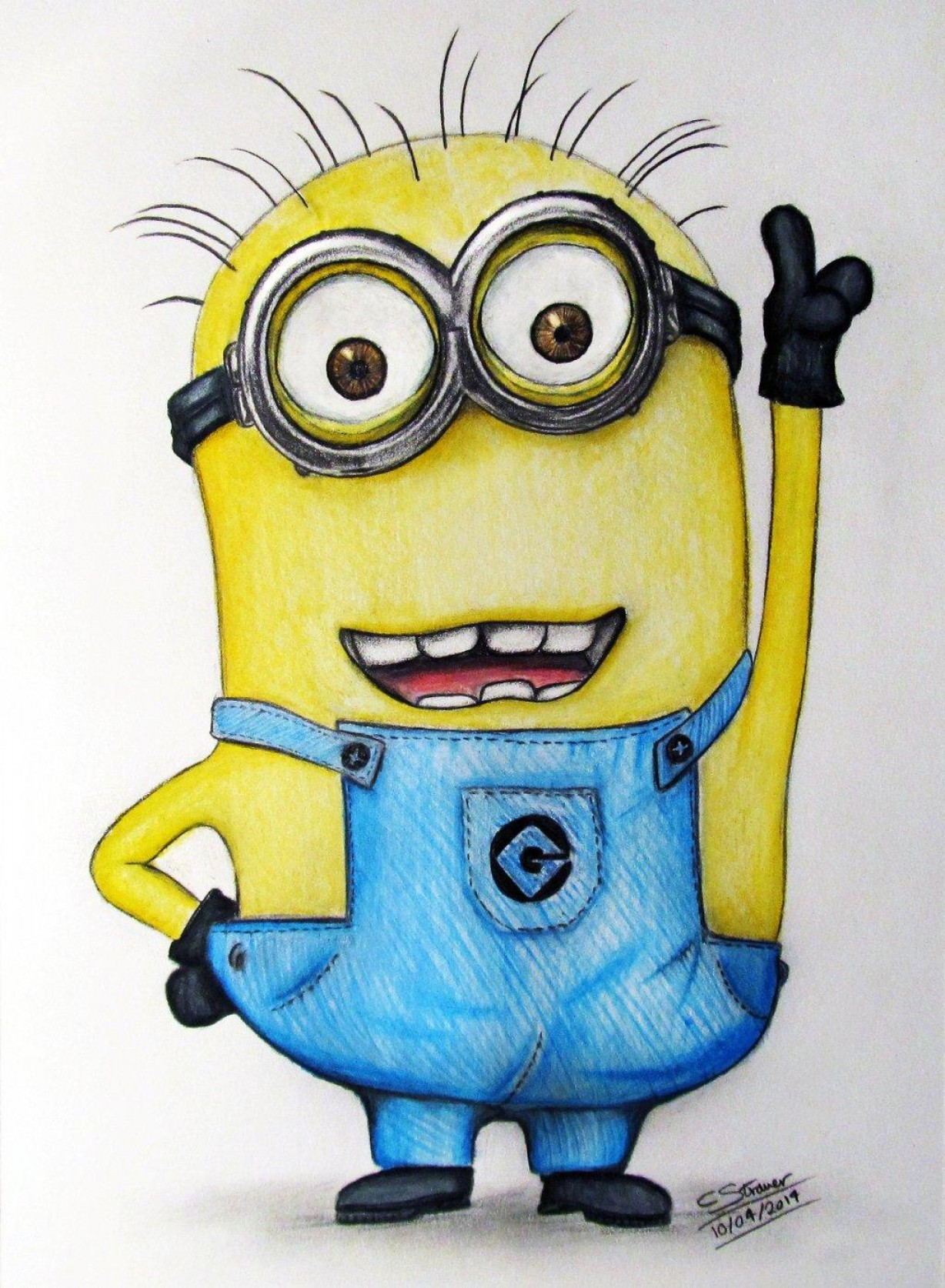 Animated Despicable Me Vector: Top Minion Fan Art Drawing Despicable Me By Lethalchris Design