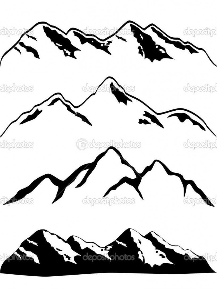 Rocky Mountain Line Art Vector: Top Rocky Mountain Outline Clip Art Pictures