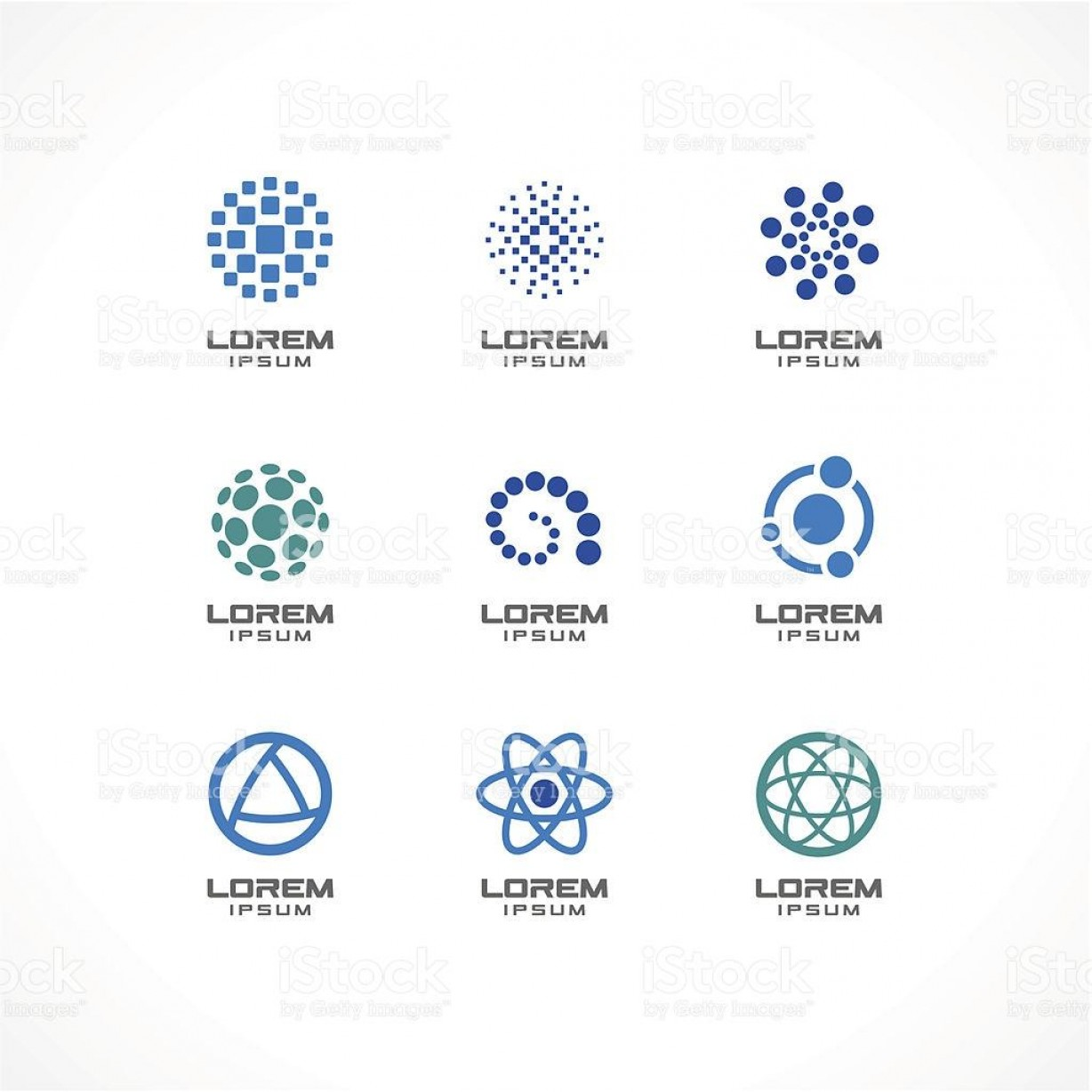 Business Vector Logos: Top Set Of Icon Design Elements Abstract Logo Ideas For Business Vector Library