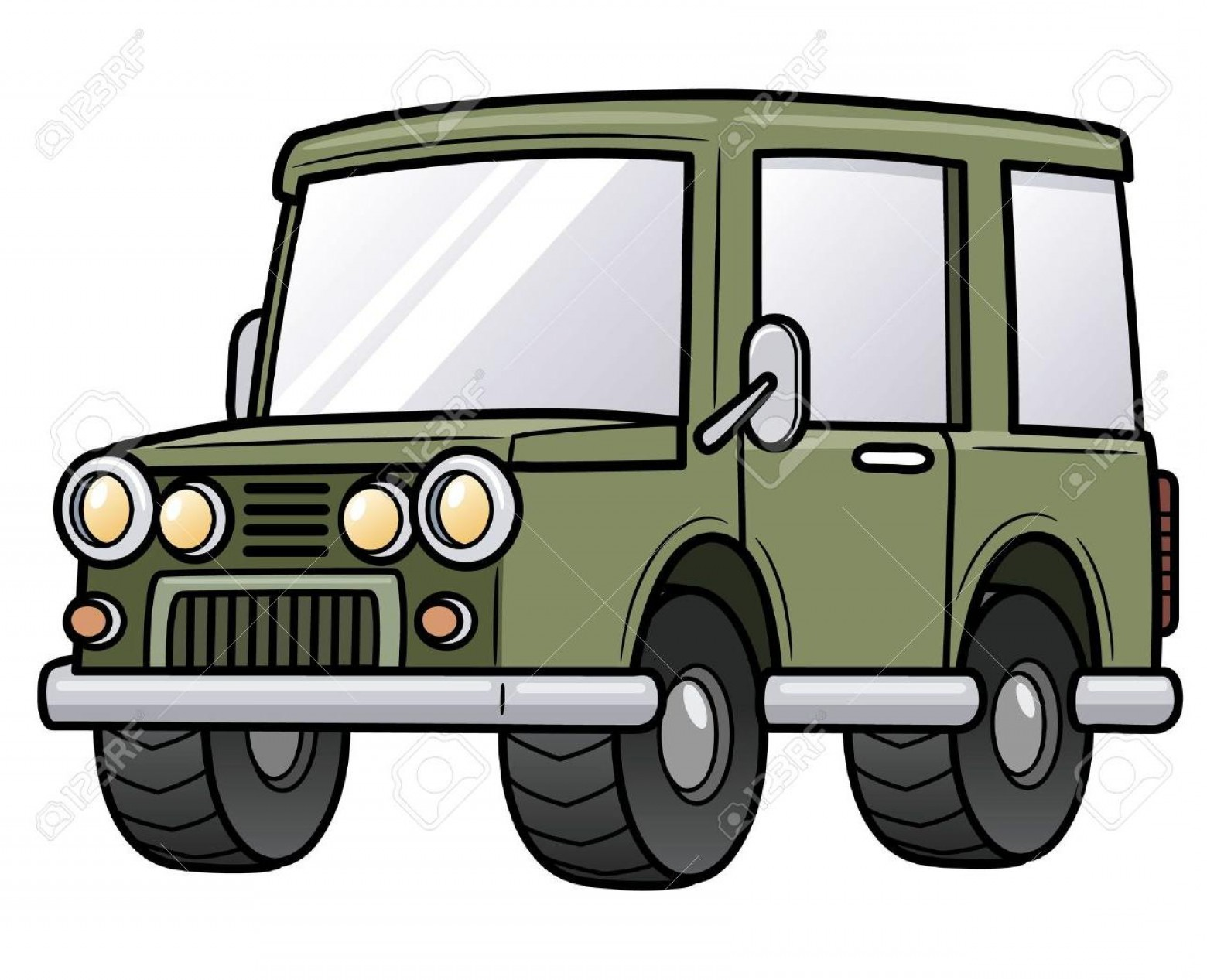 Vector Clip Art Of Jeep: Top Vector Clip Art Of Jeep Drawing