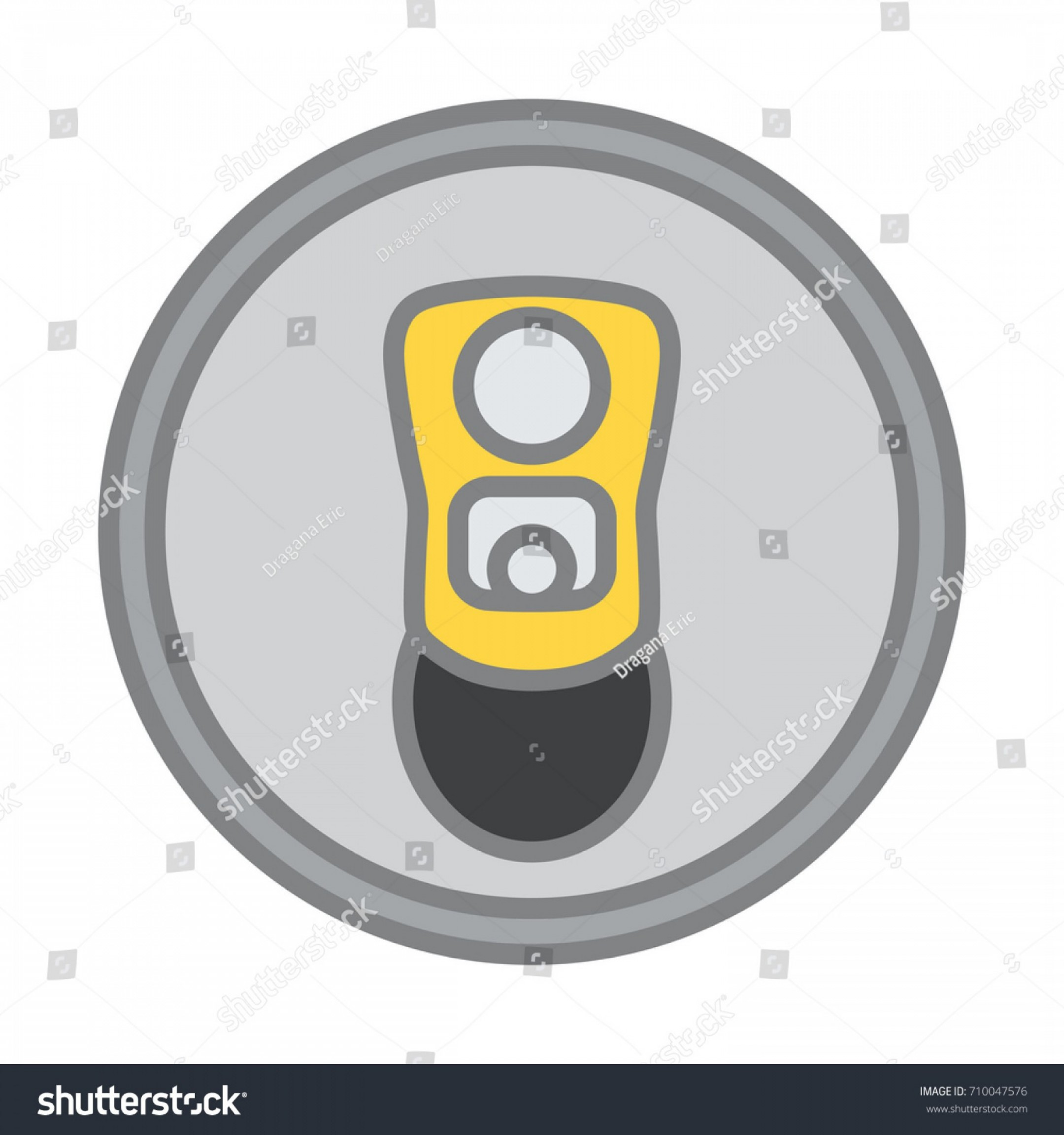 Vector Spotlight 3 Million: Top View Beer Can Opened Symbol