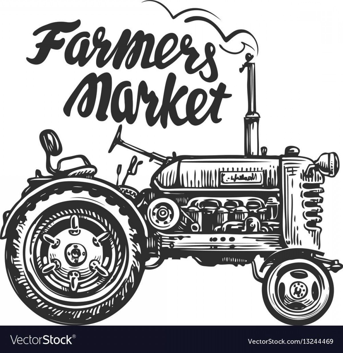 Vector CNC Designs: Top Vintage Tractor Vector Art File Free