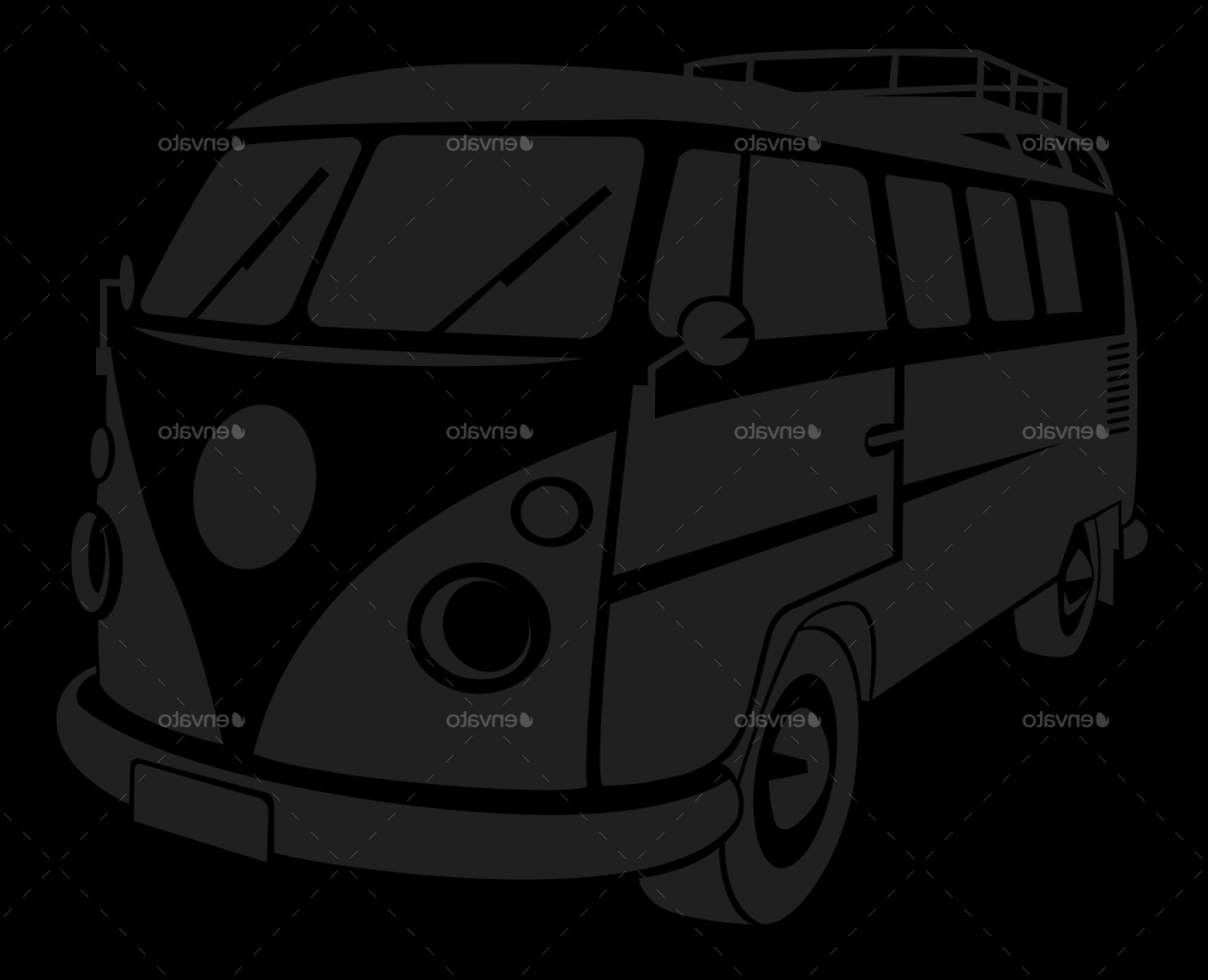 VW Vector Graphic: Top Vw Kombi Main Files Bi Cdr