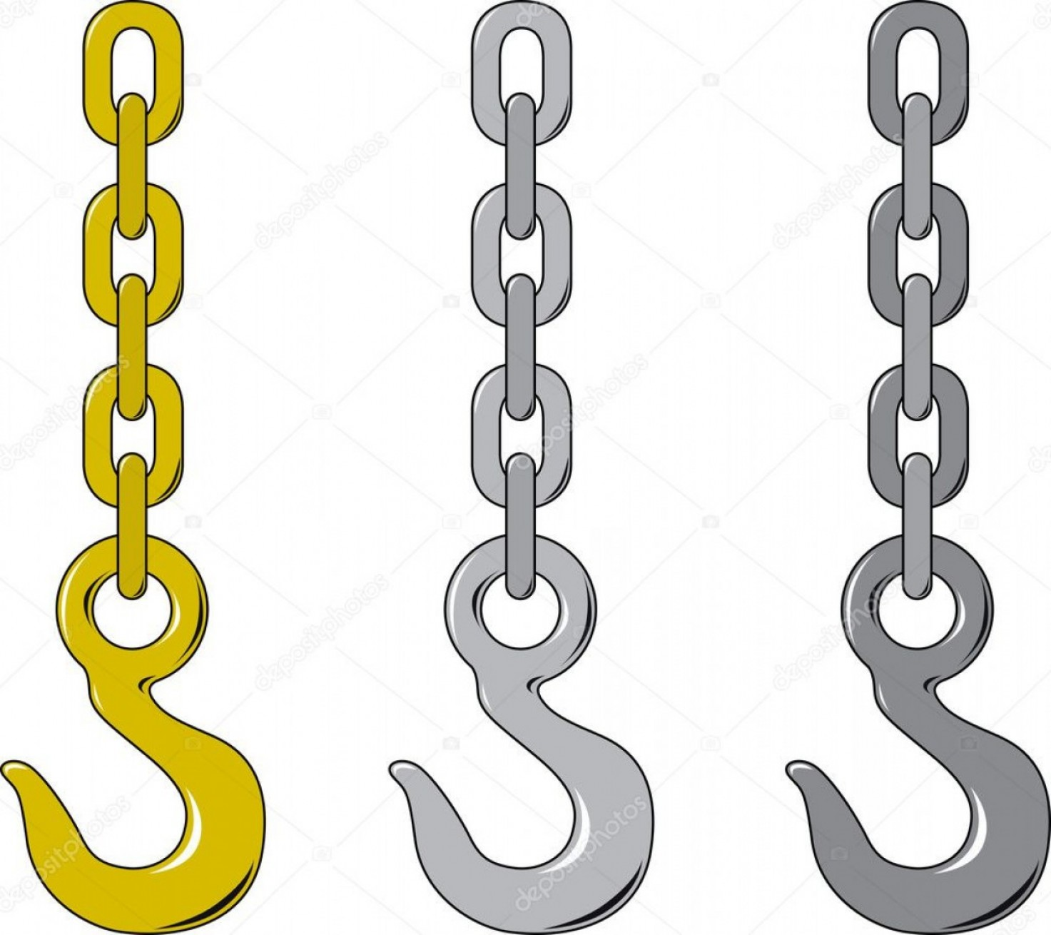 Towing Truck Hook Vector: Tow Hook And Chain Clip Art