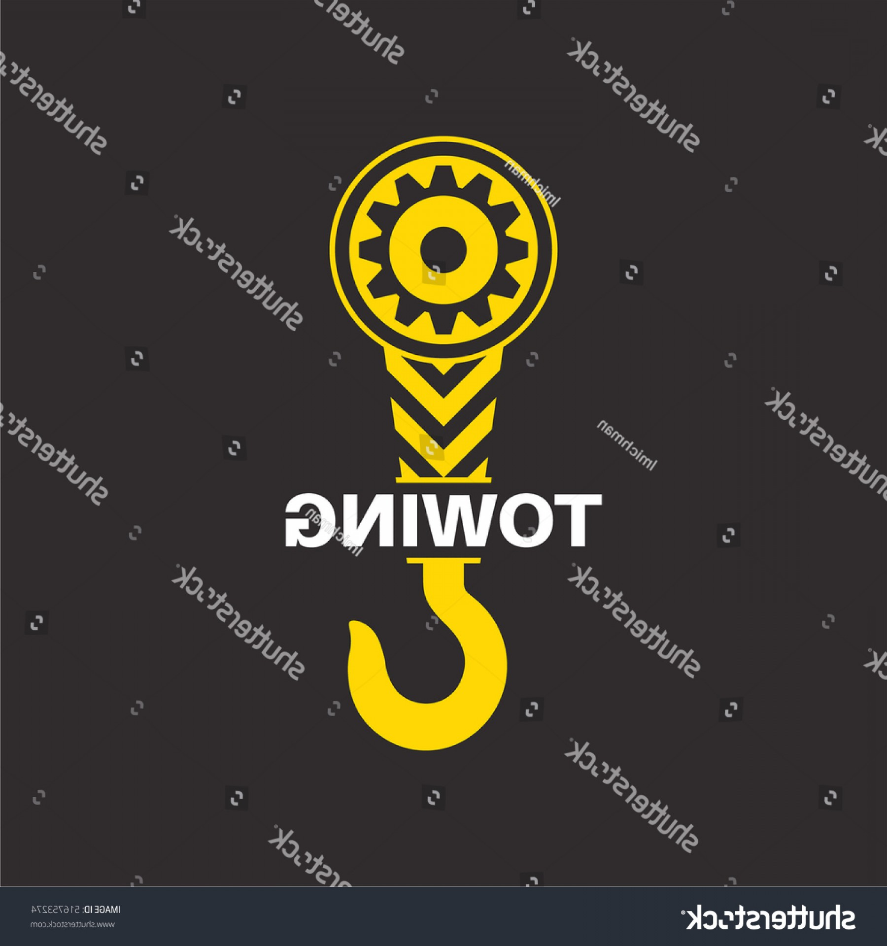 Towing Truck Hook Vector: Tow Truck Icon Wrecker Logotip Towing