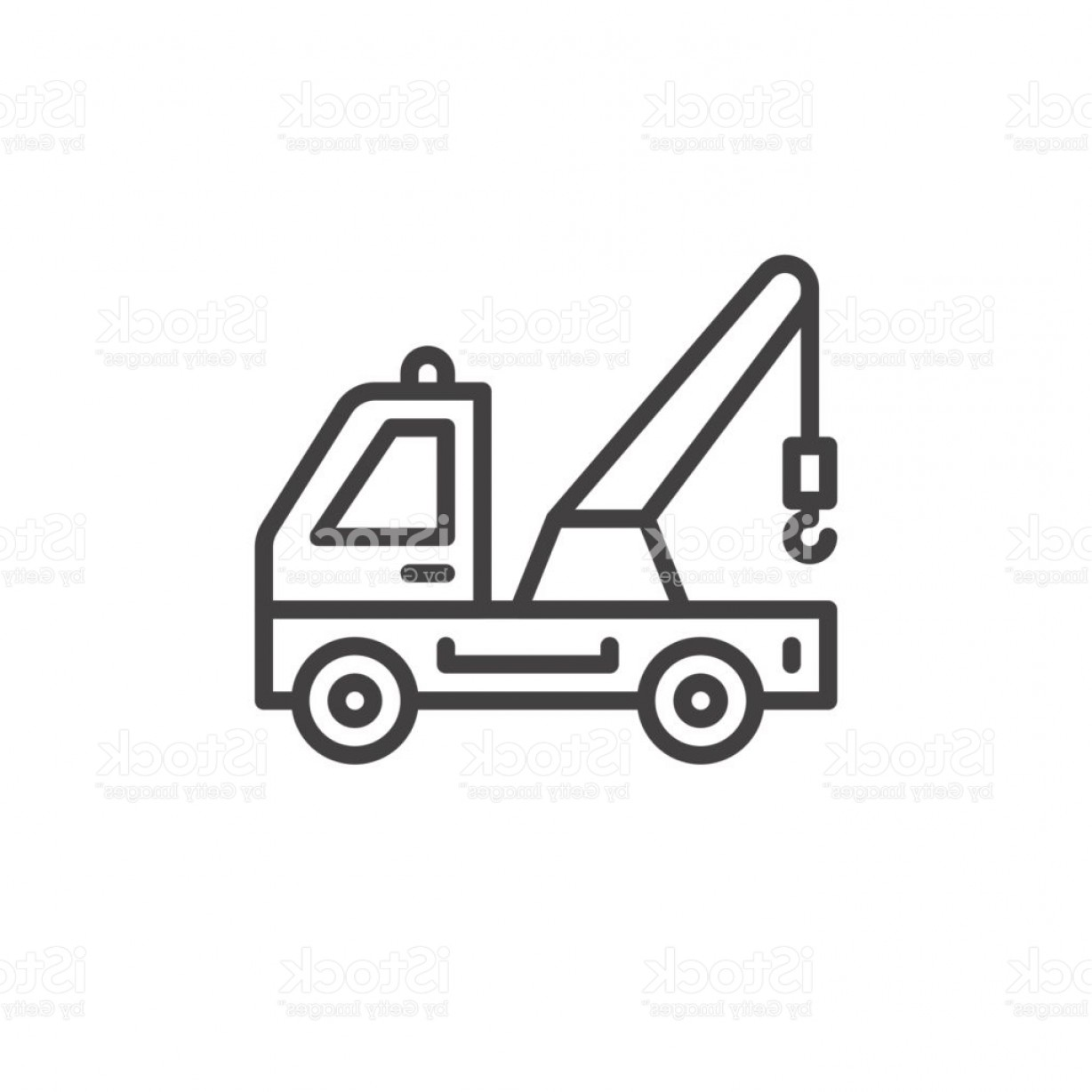 Towing Vector Clip Art: Tow Truck Line Icon Outline Vector Sign Linear Style Pictogram Isolated On White Gm