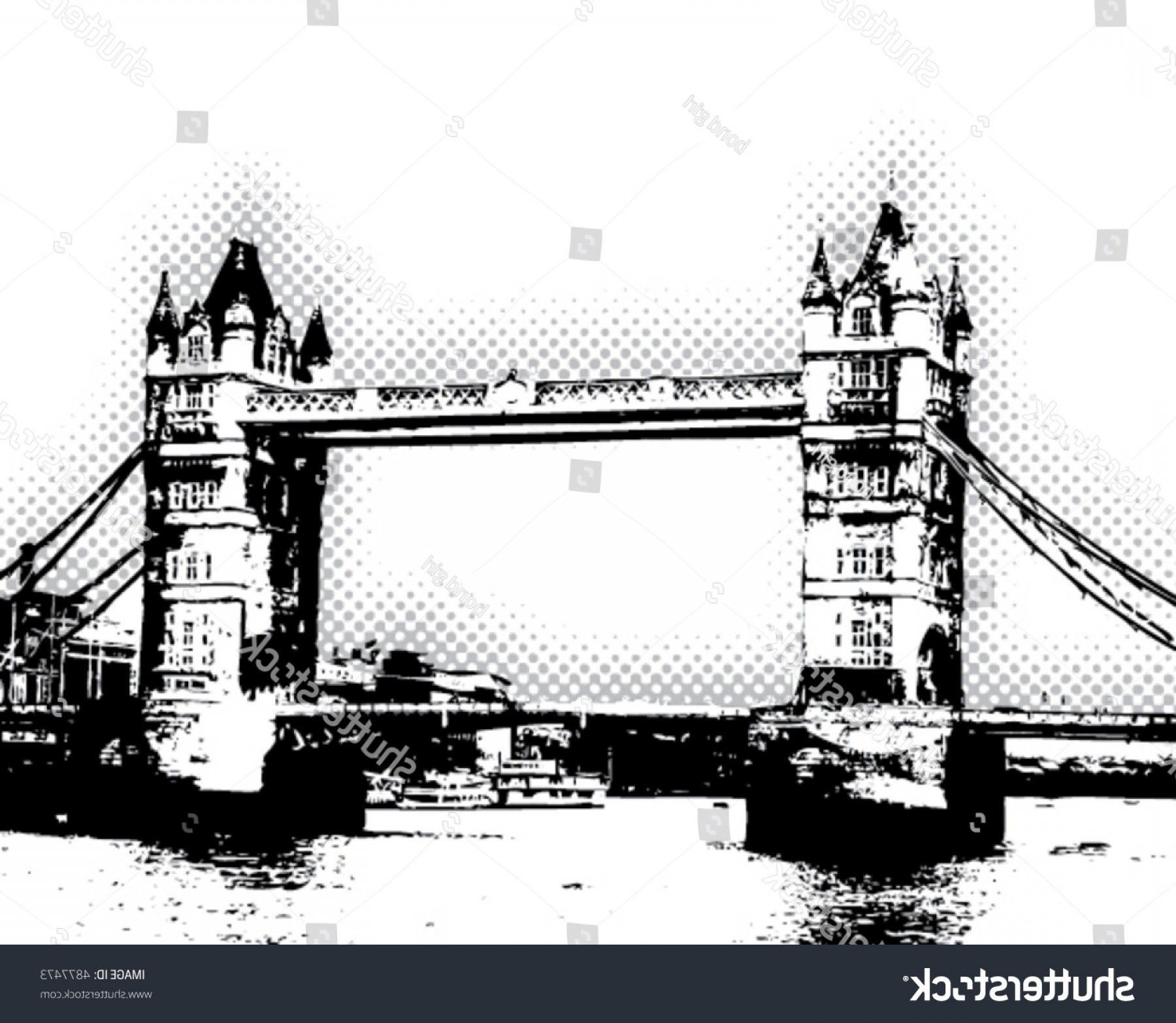 Bond Girls Vector: Tower Bridge London Vector Poster