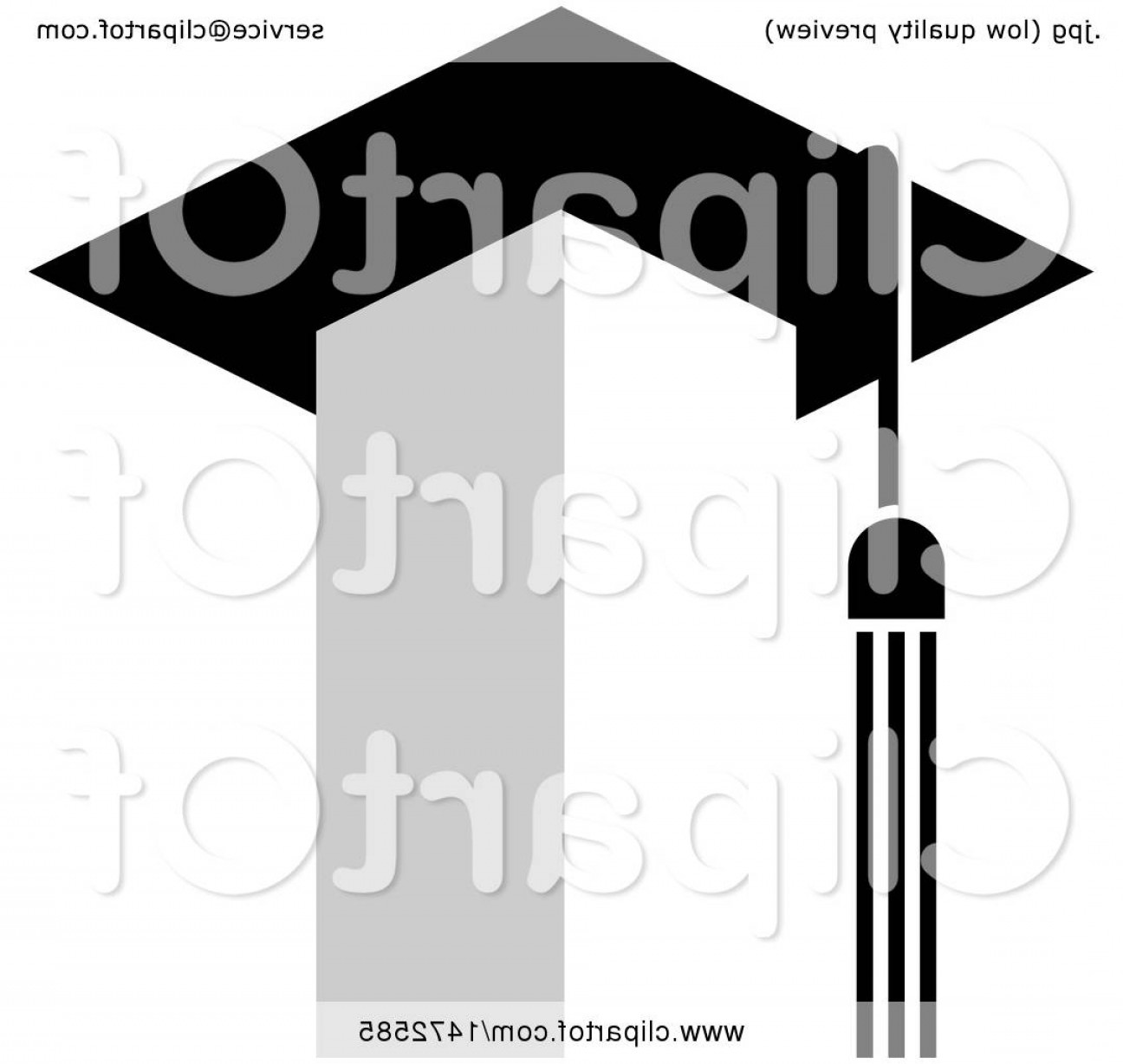 Tassel Vector: Tower With A Tassel And Graduation Cap Roof