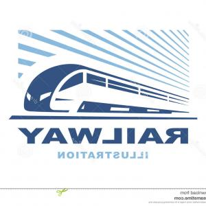 Railroad Logos Vector Format: Train Logo Illustration On Light Background Emblem Illustration