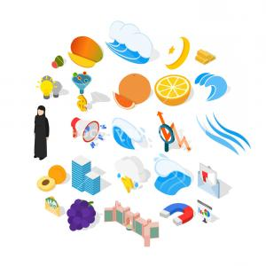 Vector Economics: Training Of Economics Icons Set Isometric Set Of Training Of Economics Vector Icons For Web Isolated On White Background Rhguyuaaljqvw