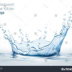 Transparent Water Vector: Falling Transparent Water Drop Vector Isolated