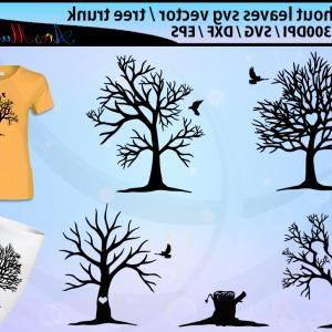 Tree Trunk Silhouette Vector: Tree Without Leaves Svg Cut Silhouette Vector Tree Without Leaf And Bird Svg Tree Svg Vector Silhouette Tree Trunk Silhouette Clipart
