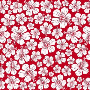 Hawaiian Flower Seamless Vector Pattern: Chic Seamless Pattern Colorful Hawaiian Flowers On