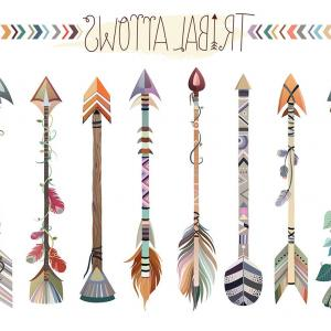Tribal Hoop Vector: Tribal Arrows Clipart Set Of Vector Png