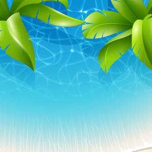Tropical Background Vector: Tropical Background Vector Seamless Pattern With Exotic Palm Trees Leaves For Gm