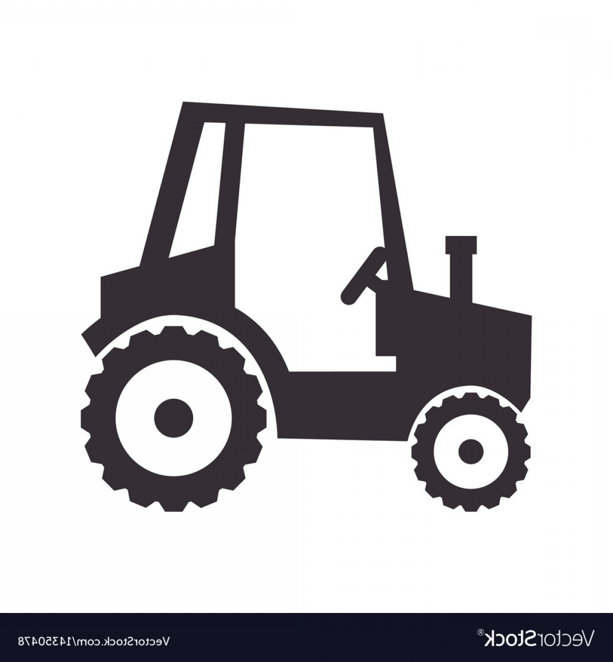 Free Tractor Vector: Tractor Farm Vehicle Isolated Icon Vector