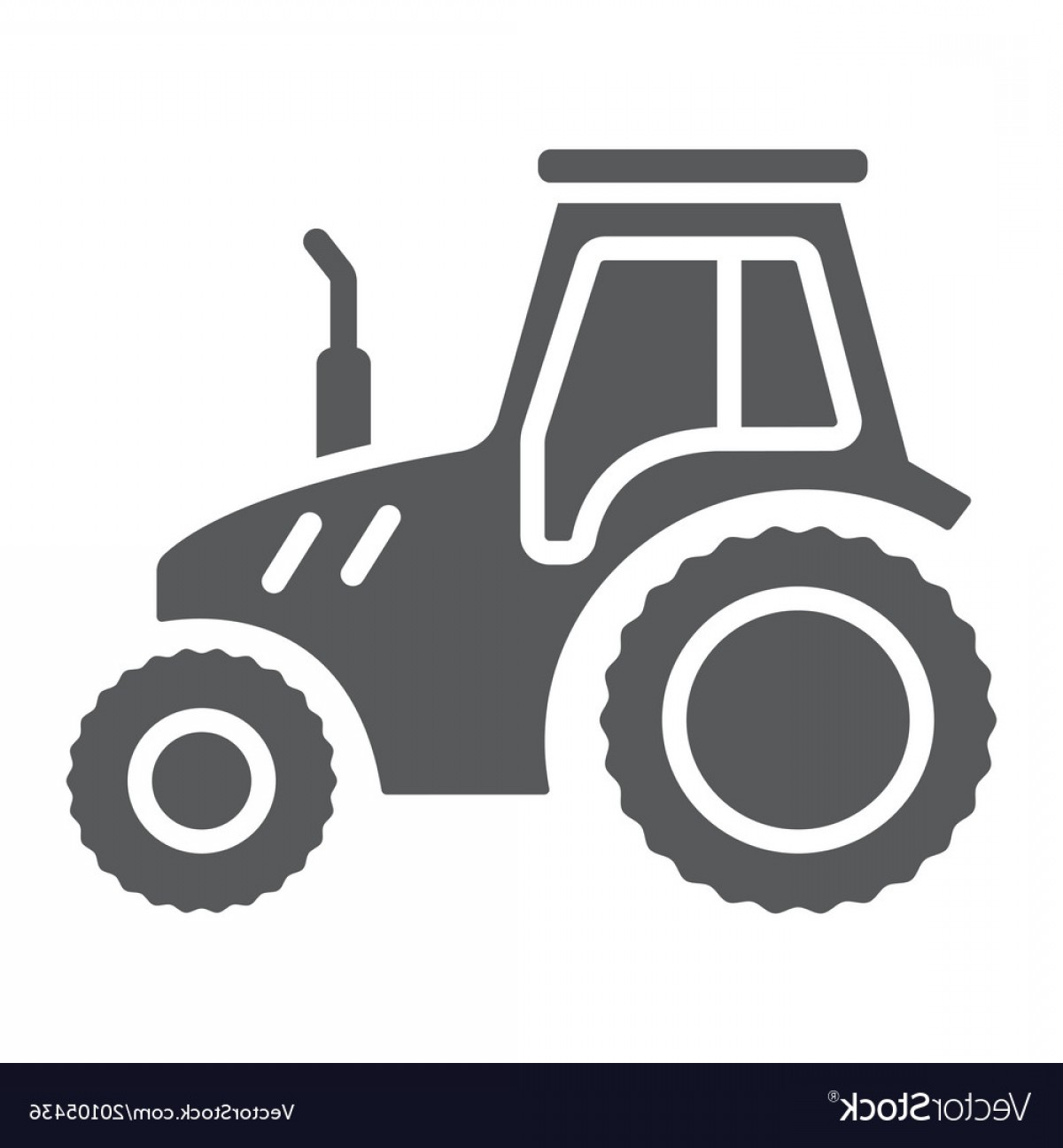 Agriculture Vector Icons: Tractor Glyph Icon Farming And Agriculture Vector