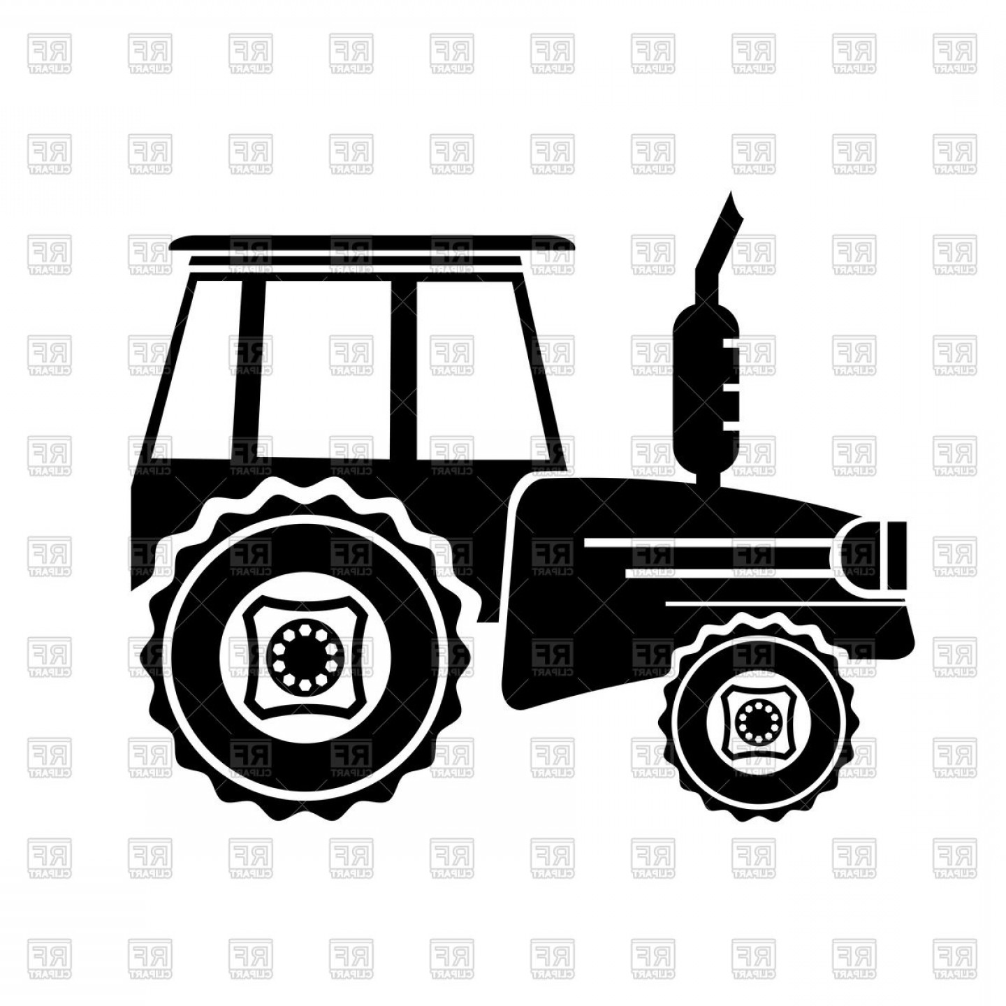 Free Tractor Vector: Tractor Icon Side View Vector Clipart