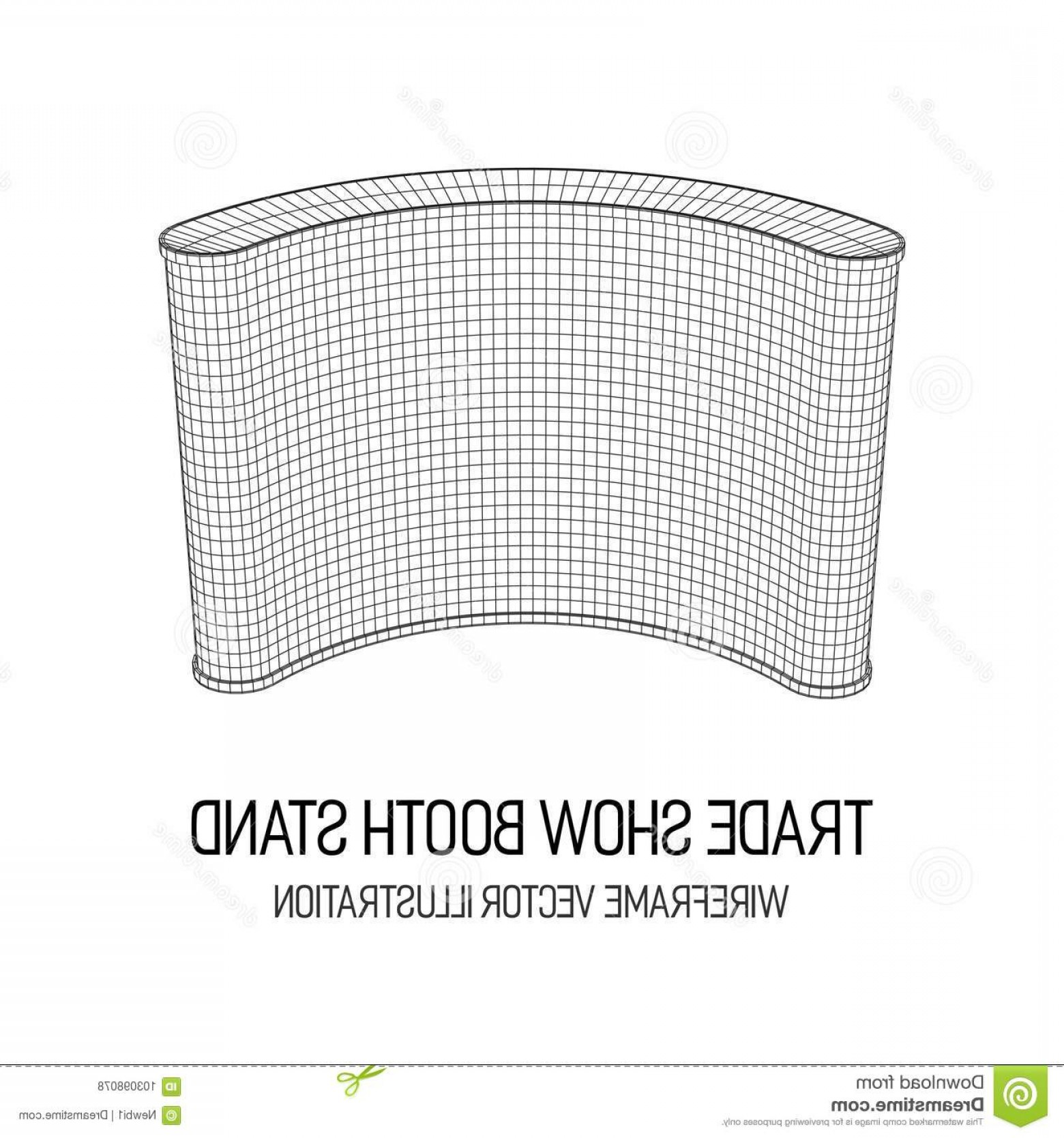 Commercial Booth Vector: Trade Show Booth Wireframe Mesh Vector Template Your Design Trade Show Booth Image