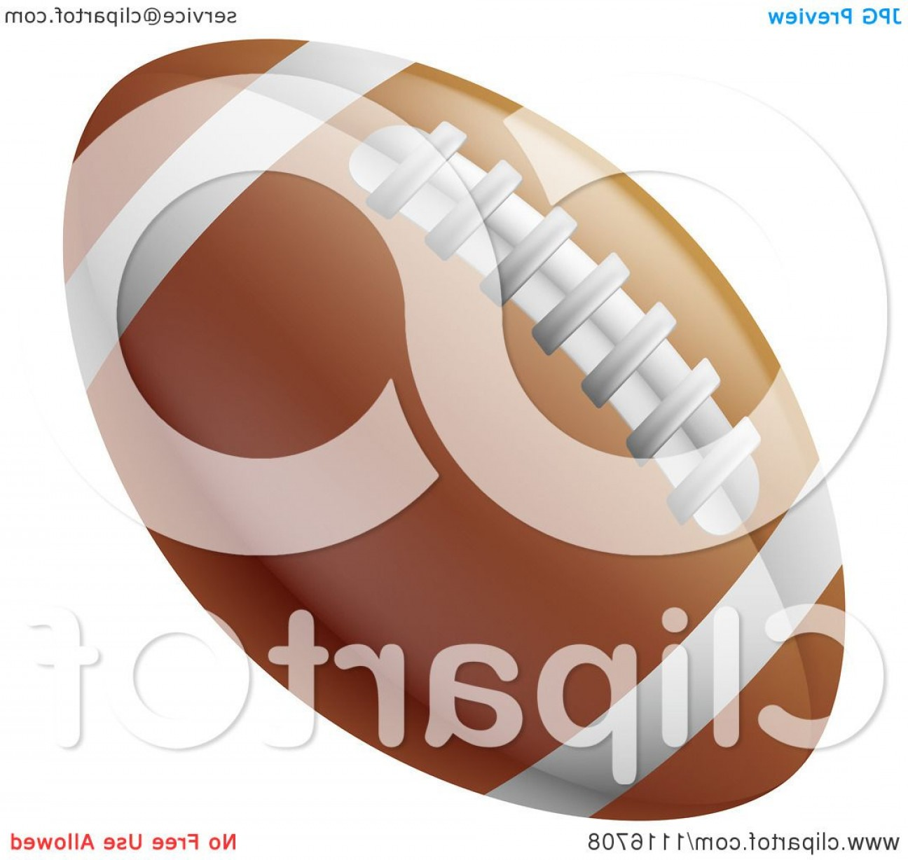 Vector Football Laces And Lines: Traditional American Football With White Lines And Laces