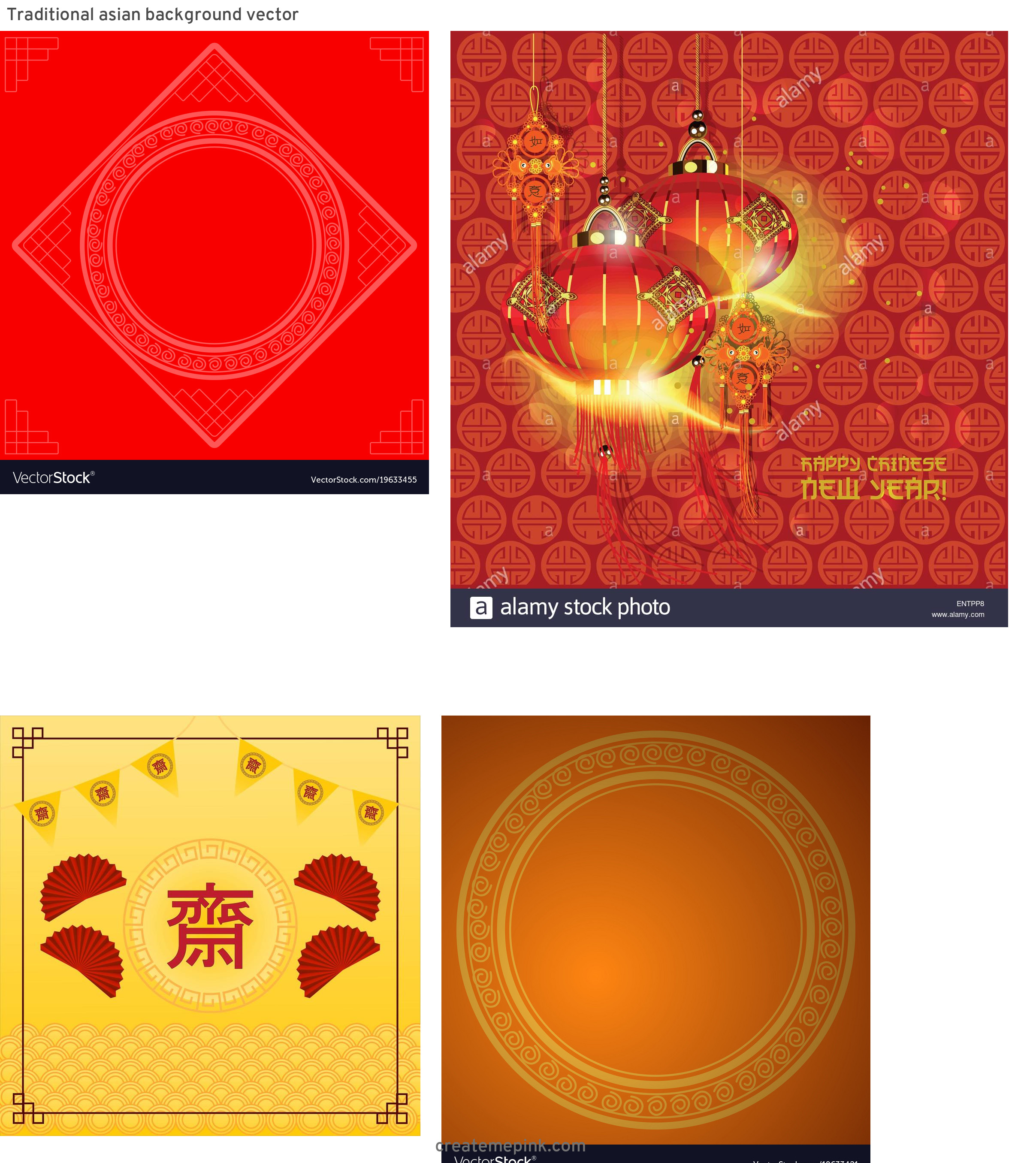 Asian Background Vector: Traditional Asian Background Vector