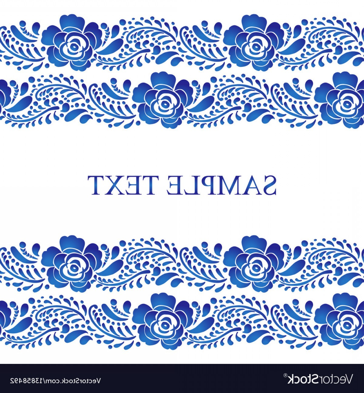 Russian Patterns Vector: Traditional Russian Seamless Pattern Frame Vector