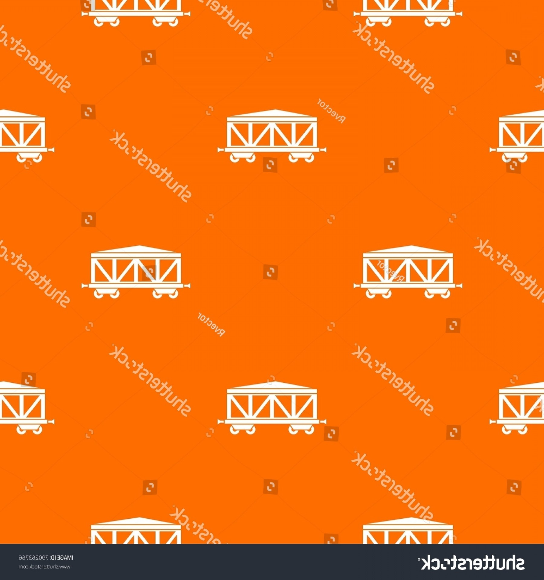 Vector Train Pattern: Train Cargo Wagon Pattern Repeat Seamless
