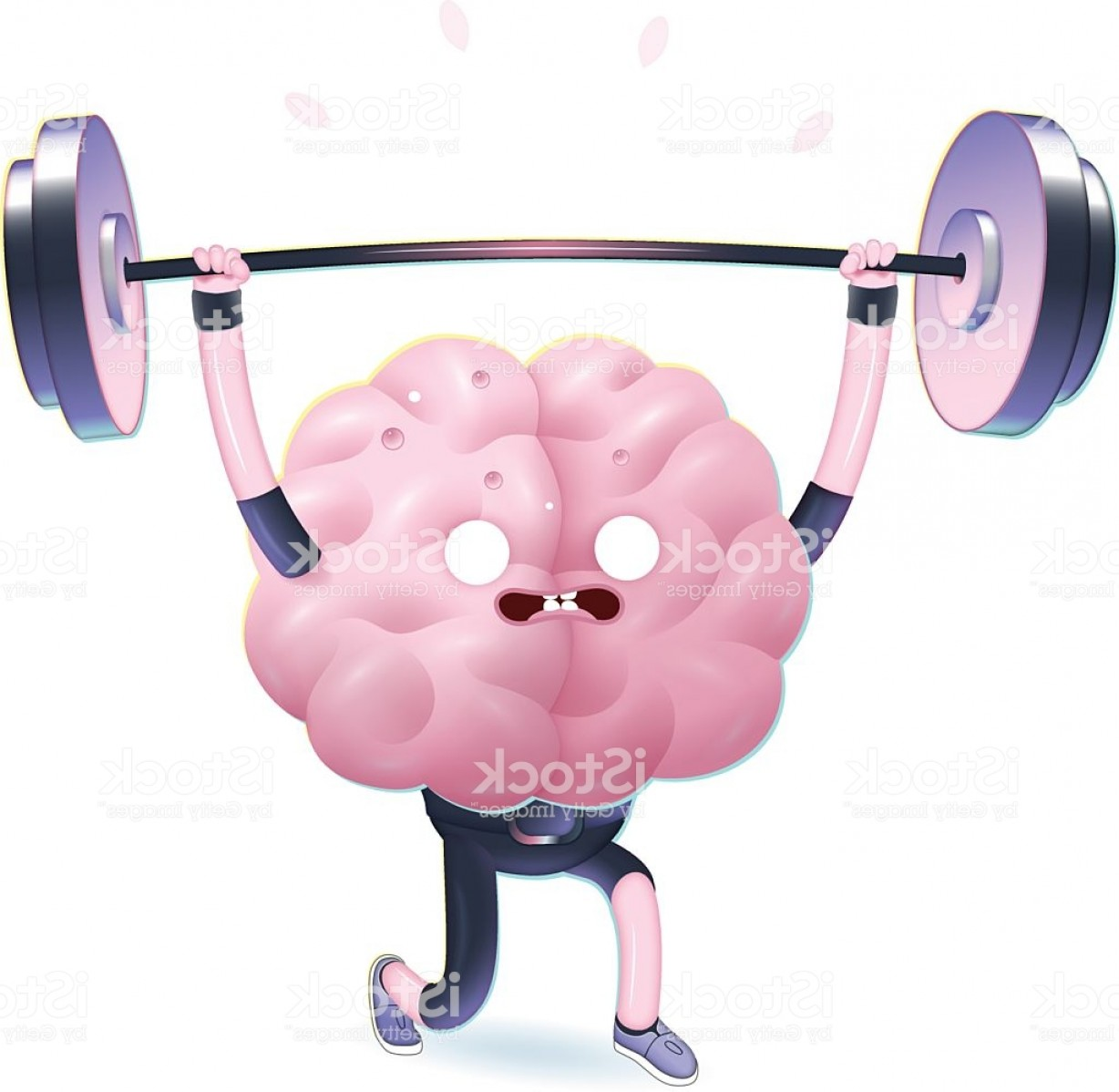 Weight Lifting Vector Graphics: Train Your Brain Weightlifting Gm