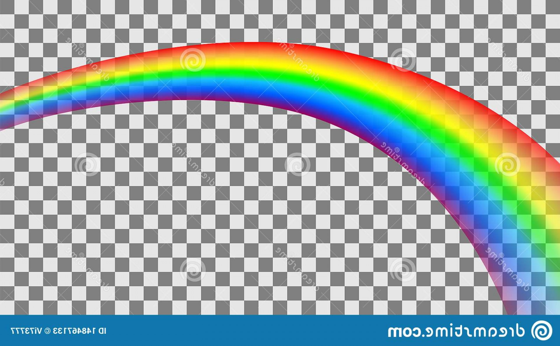 Perspective Vector: Transparent Colorful Rainbow Perspective Vector Illustration Image