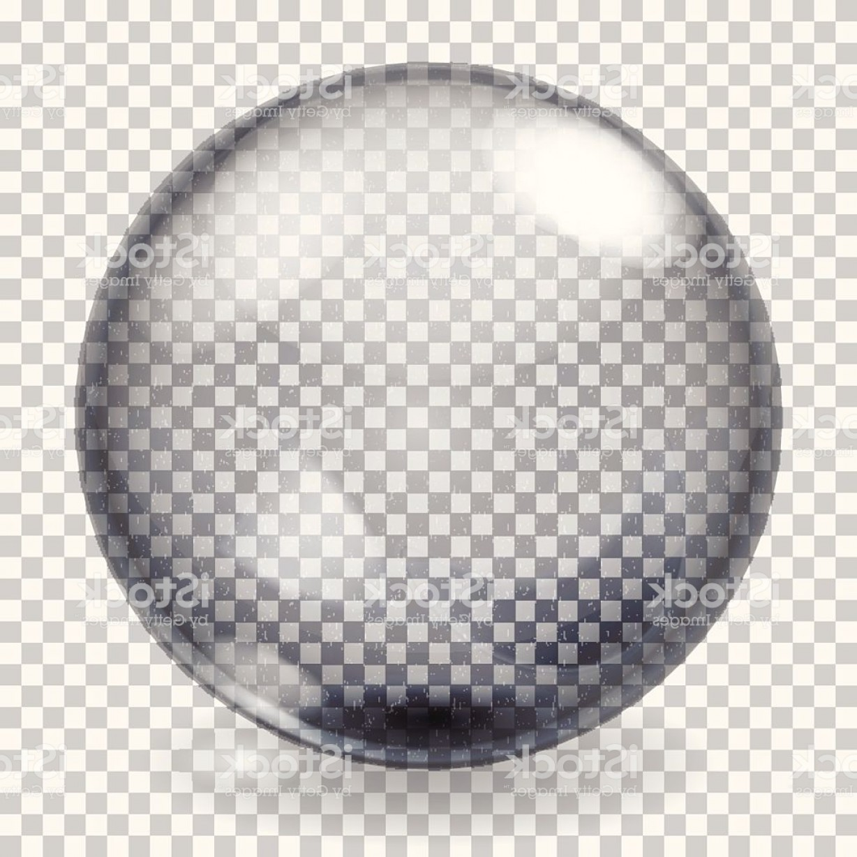 Vector Sphere Marble: Transparent Glass Sphere With Scratches Gm