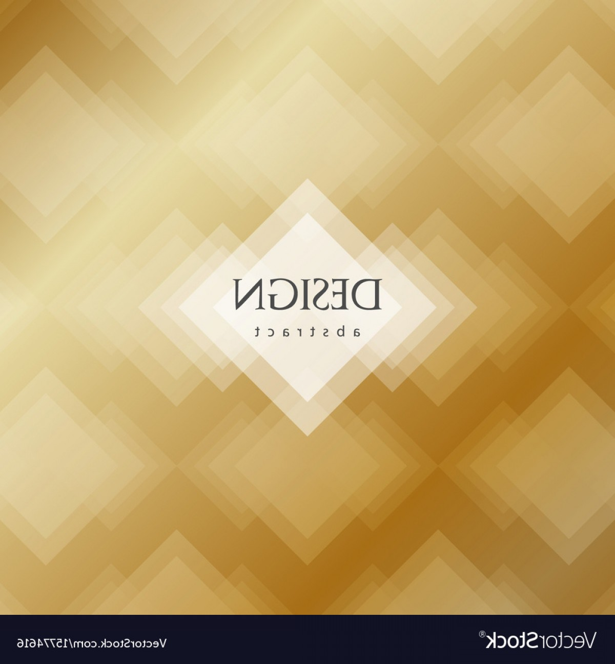 Transparent Brown Vector Background: Transparent Golden Rhombus Abstract Background Vector