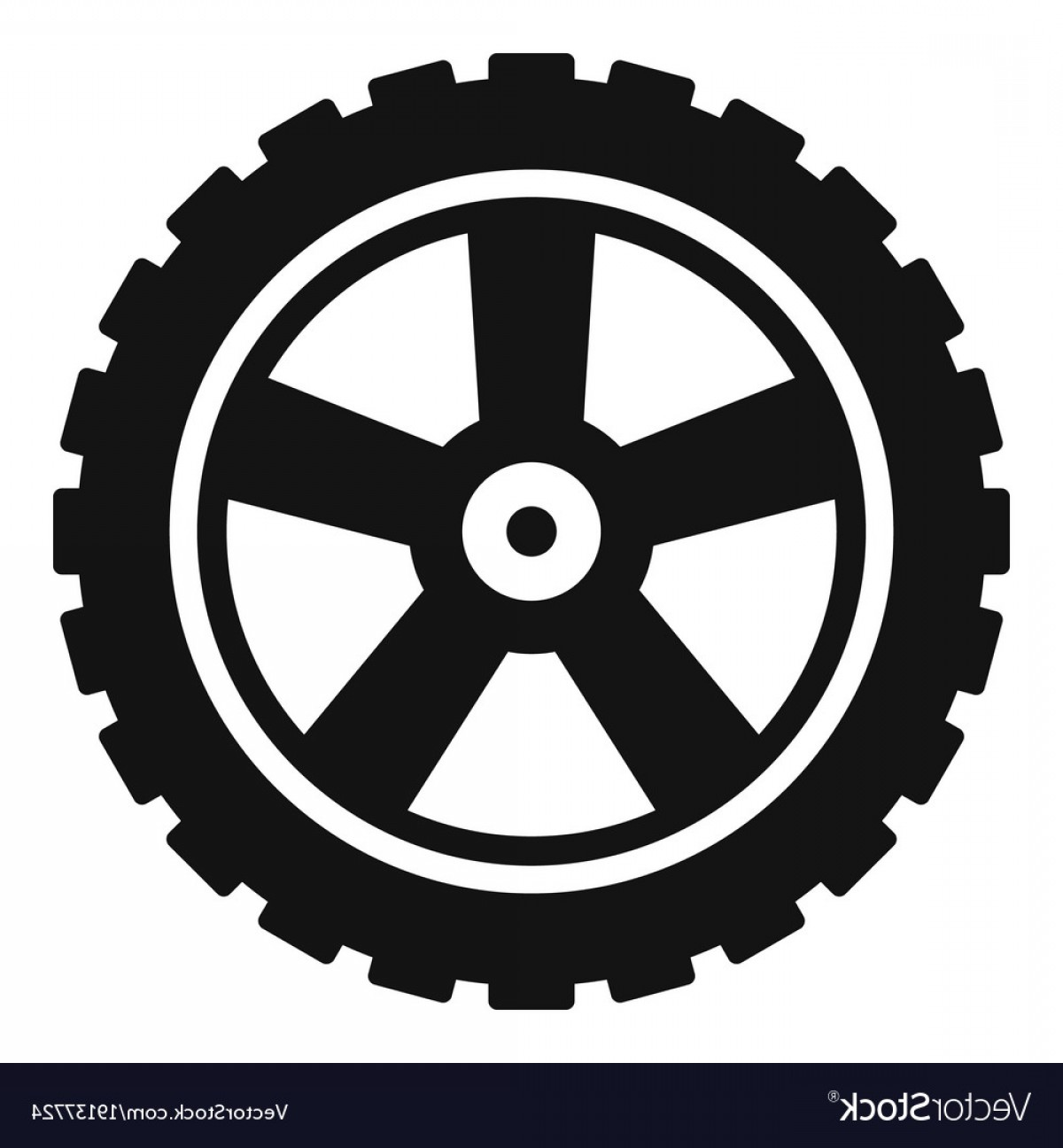 Tire Icon Vector: Transport Tire Icon Simple Style Vector
