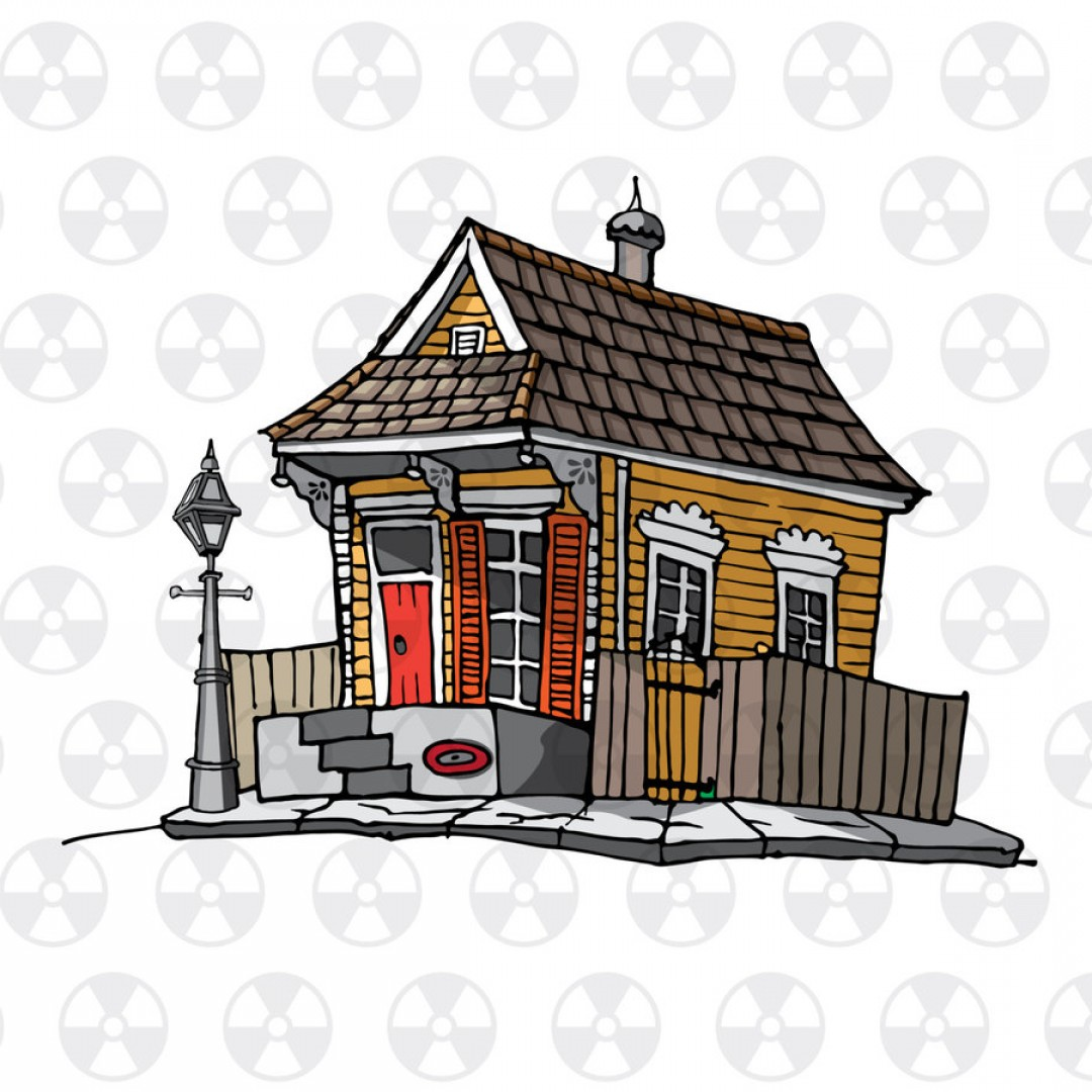 Shed PNG Vector: Trap House Vector Clipart New Orleans House Lyrs