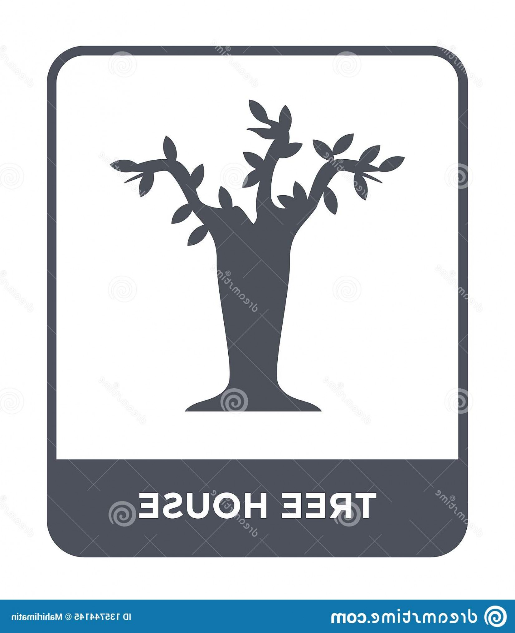 Vector Modern Tree House: Tree House Icon Trendy Design Style Isolated White Background Vector Simple Modern Flat Symbol Web Site Mobile Logo Image