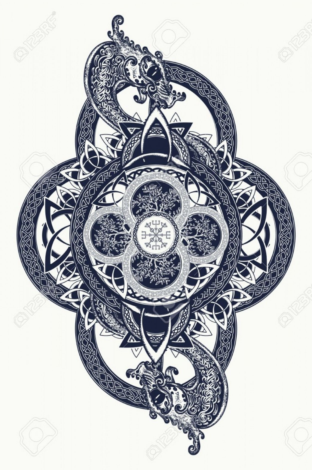 Celtic Tree Vector: Tree Of Life Stars Vector Art
