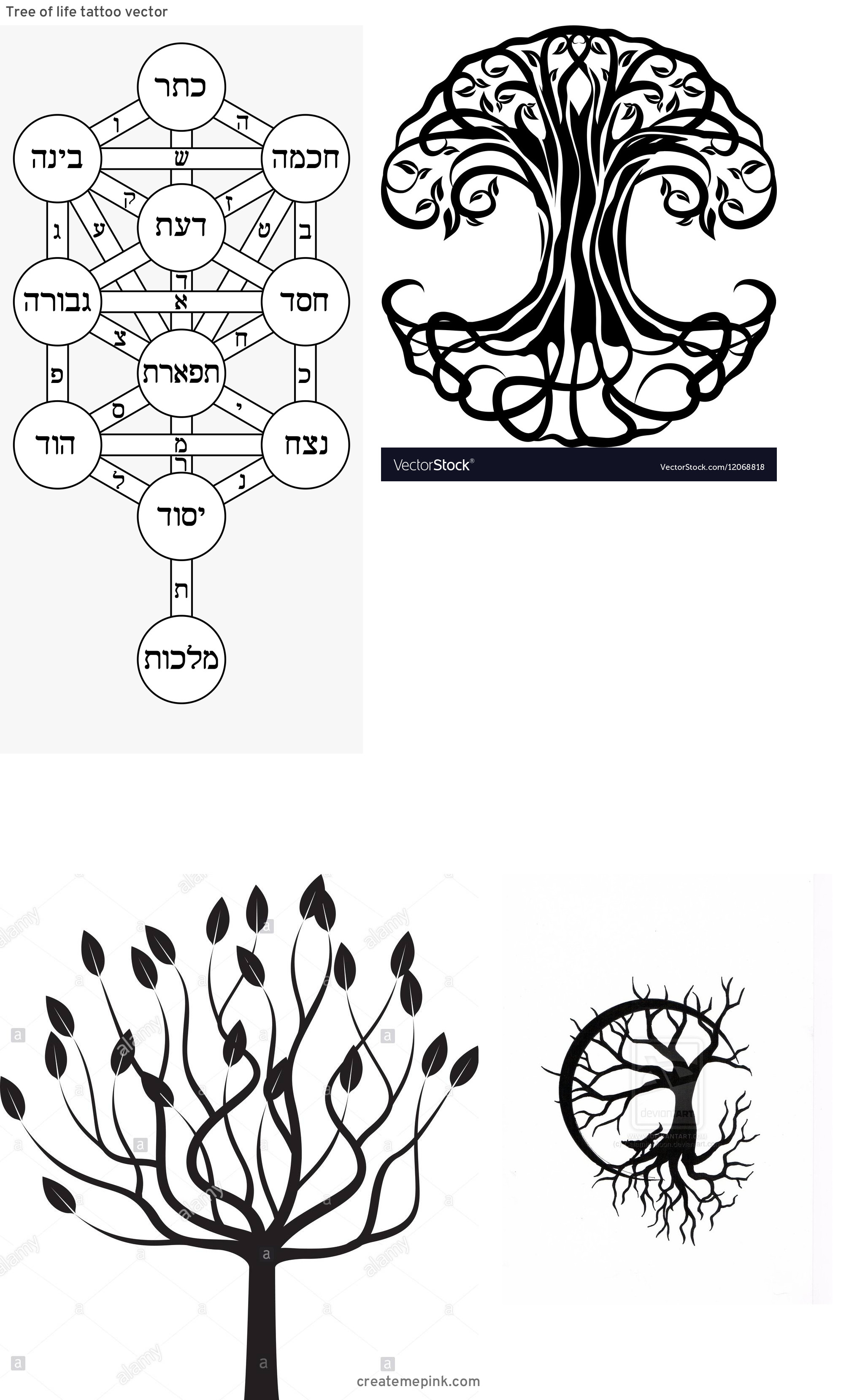 Vector Images Black Tree Of Life: Tree Of Life Tattoo Vector
