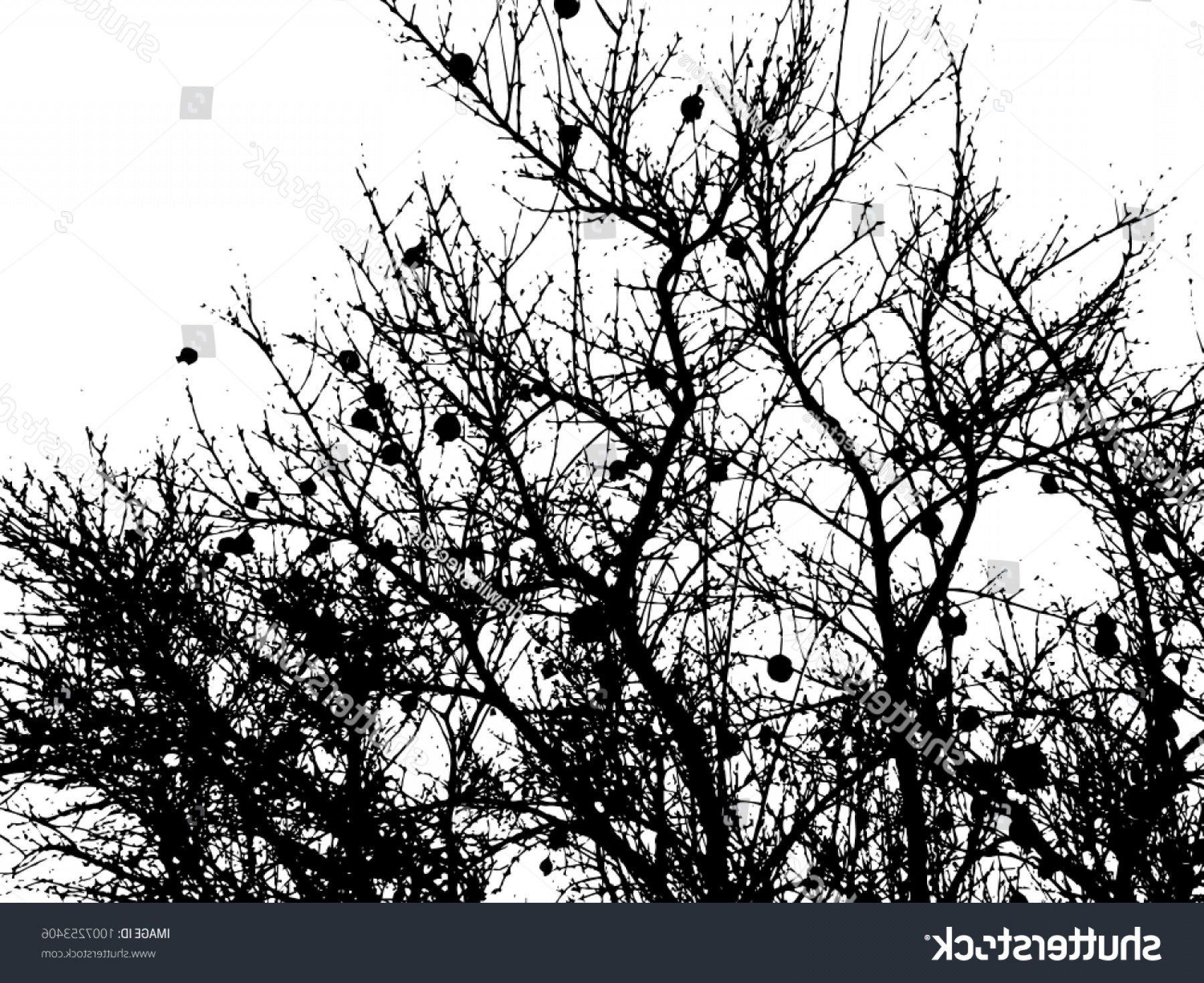 Tree Silhouette Vector Clip Art: Tree Silhouette Vector Clip Art Black