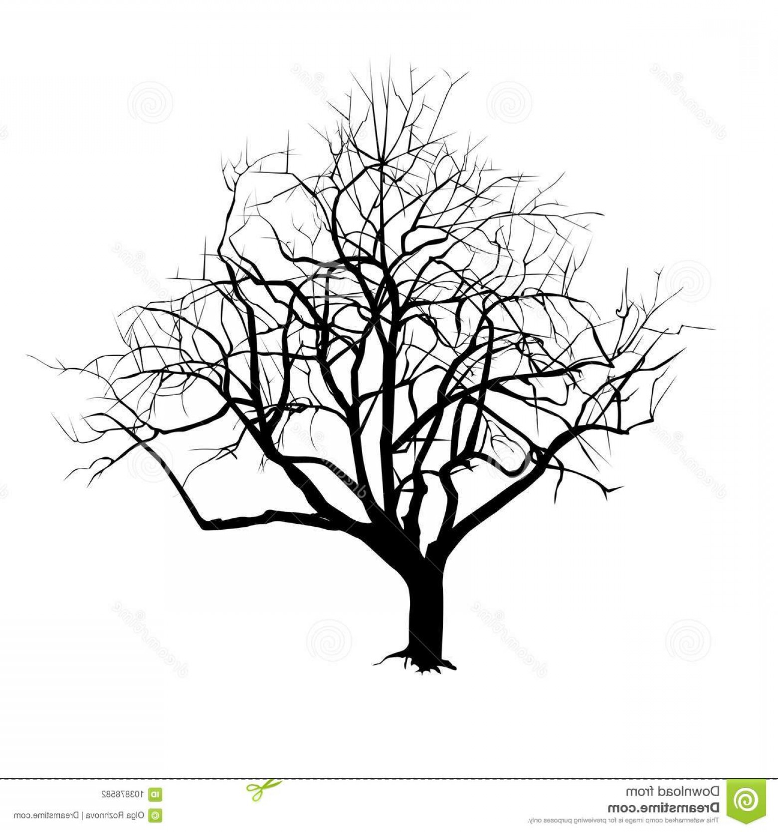 Tree Trunk Silhouette Vector: Tree Trunk Silhouette Fallen Leaves Tree Silhouette Fallen Leaves Winter Black White Vector Drawing Image