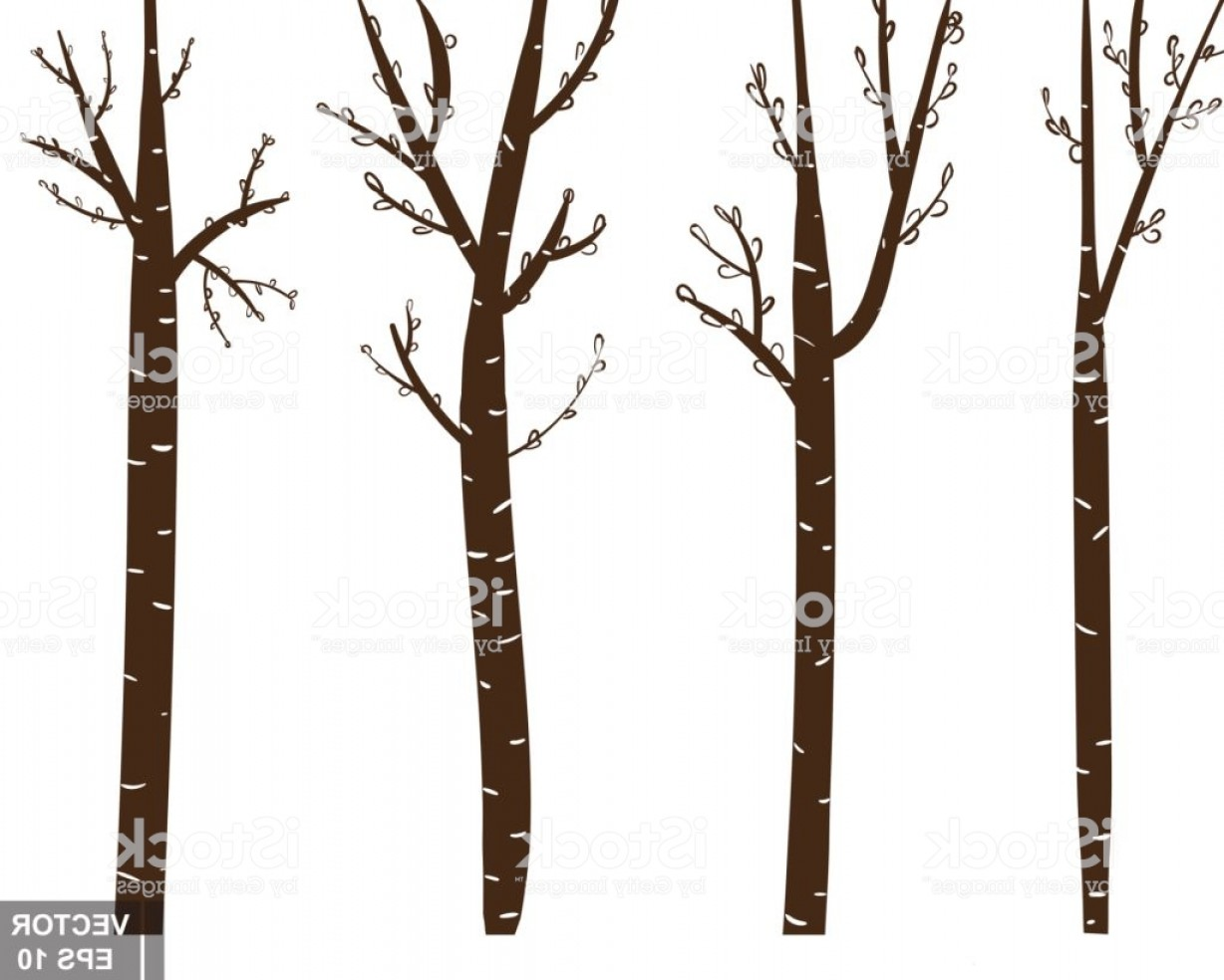 Tree Trunk Silhouette Vector: Tree Trunk Silhouette The Icon For Your Design Gm