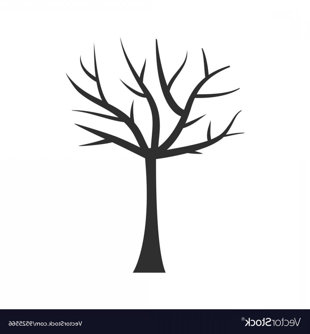 Tree Trunk Silhouette Vector: Tree Trunk Silhouette Tree Branch Plant Clip Art Vector