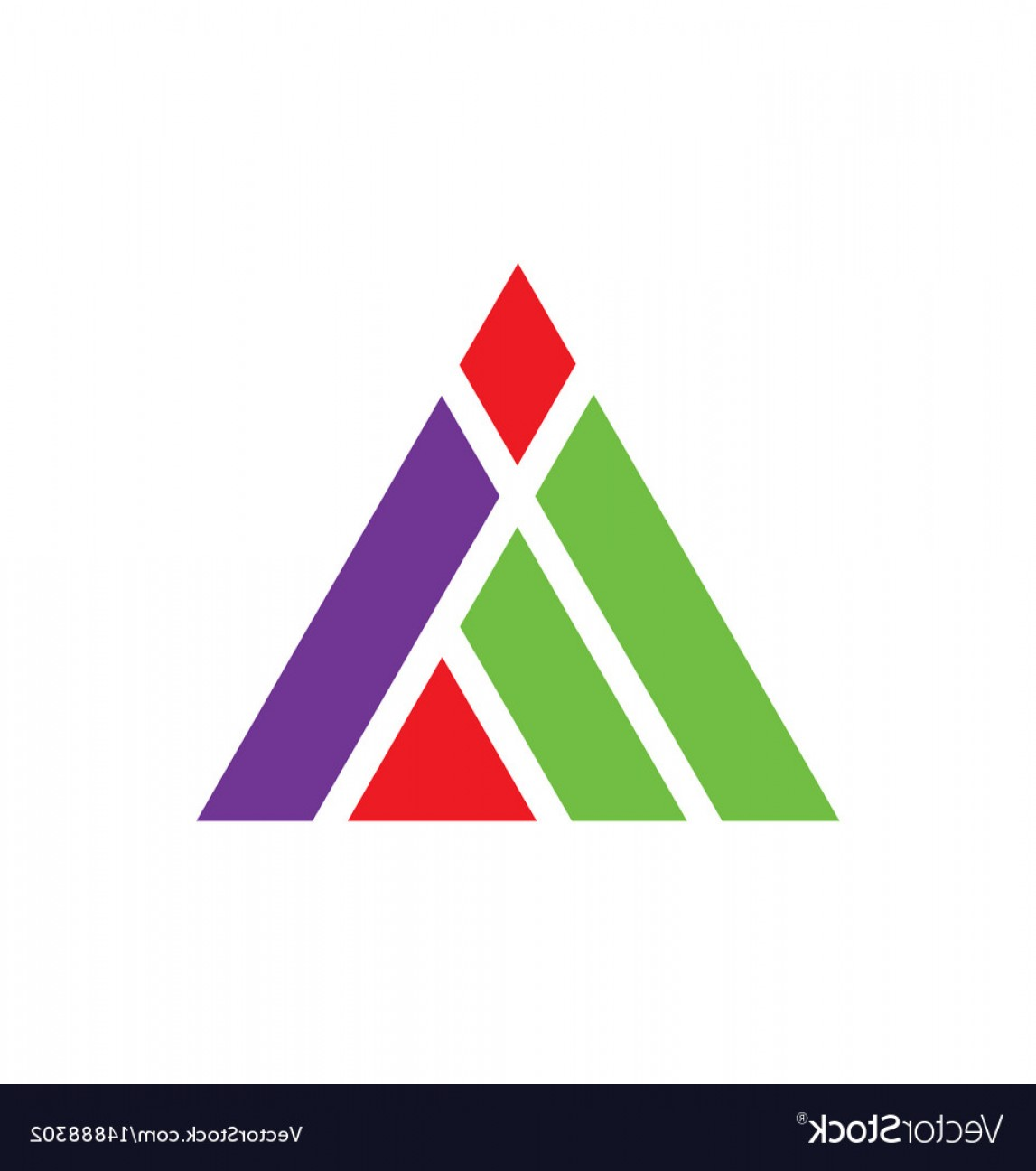 Absract Shape Logo Vector: Triangle Construction Abstract Shape Logo Vector